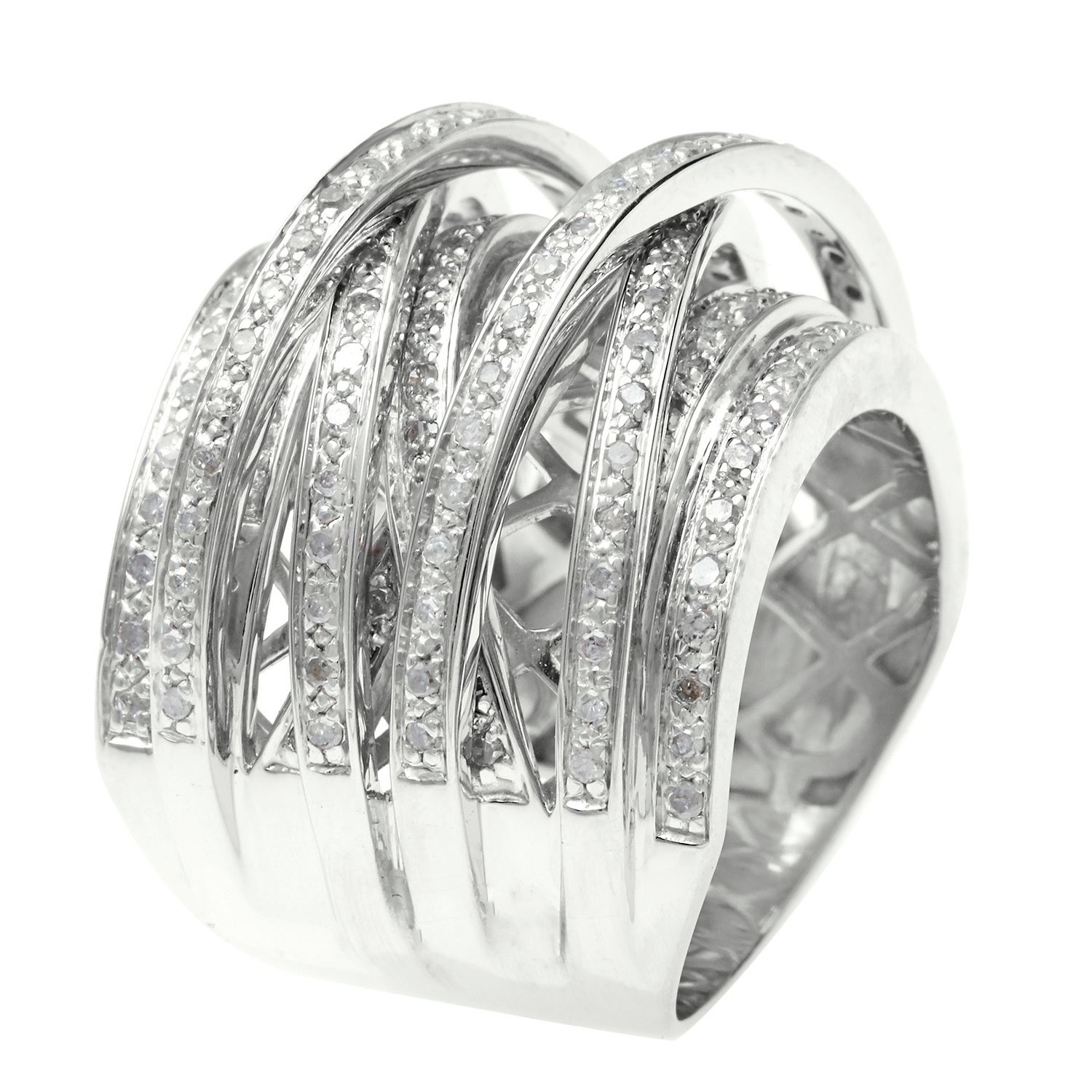 wedding multi rings stone princess diamond cut bands ring engagement