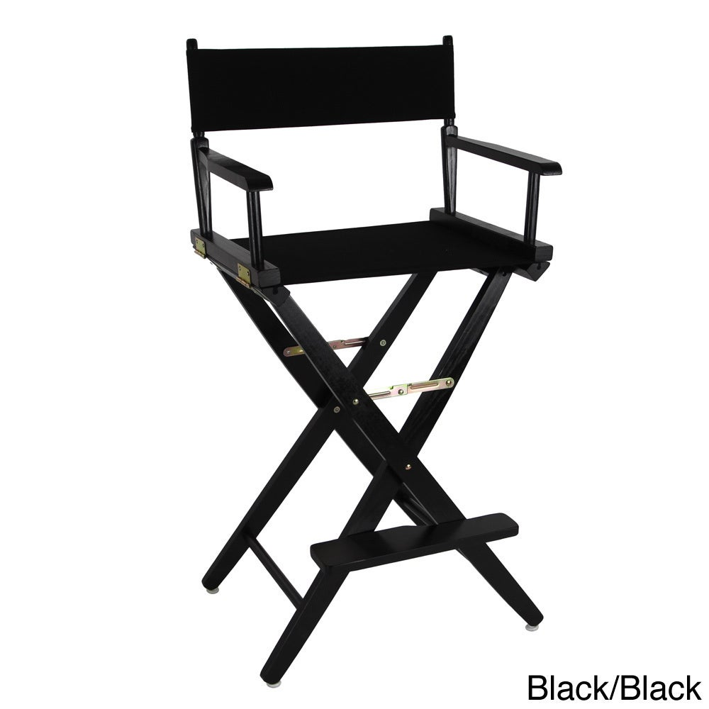 Charmant Shop American Trails Extra Wide 30 Inch Premium American Oak Bar Height  Directors Chair   Free Shipping Today   Overstock.com   8372908