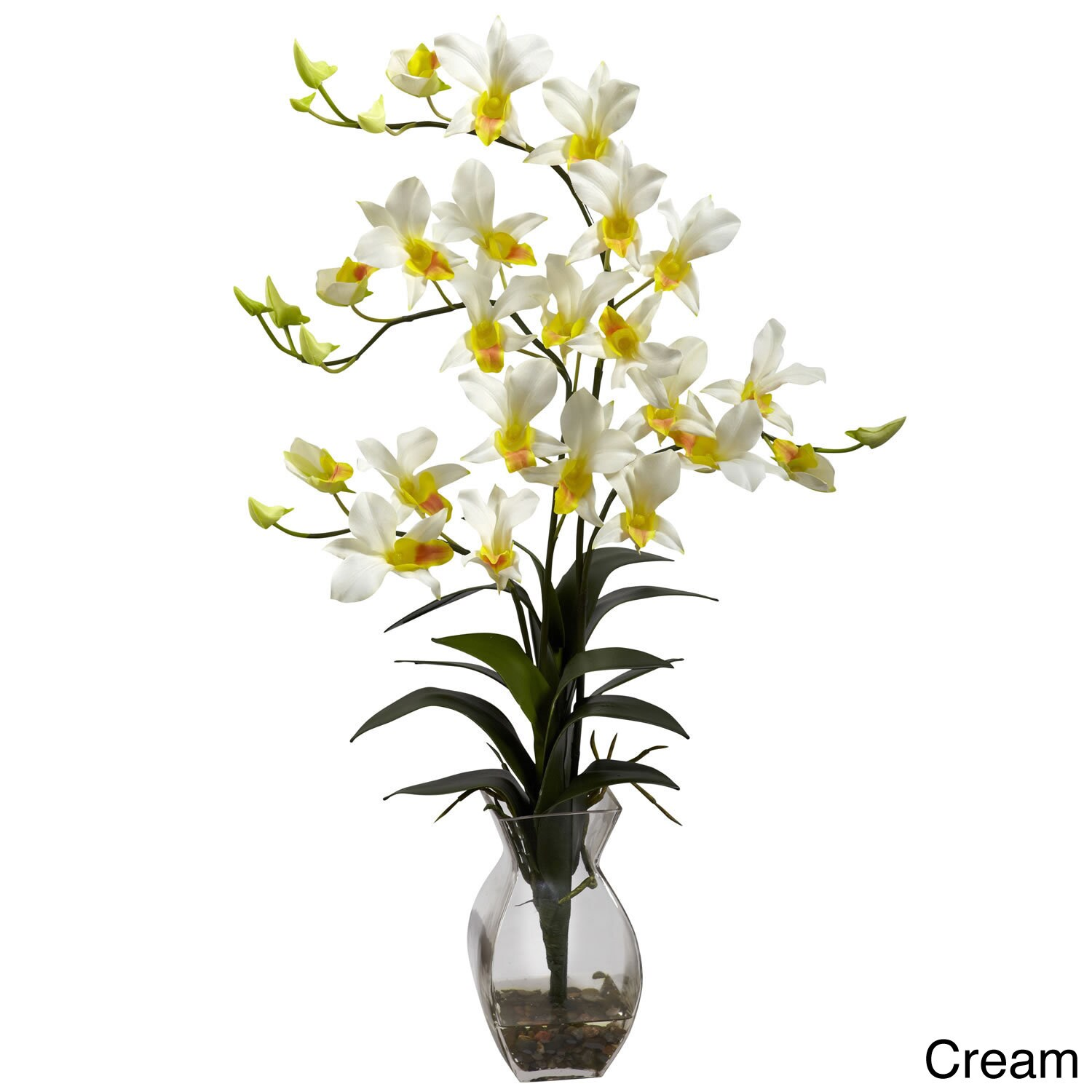 Nearly natural dendrobium orchid vase arrangement decorative plant nearly natural dendrobium orchid vase arrangement decorative plant free shipping today overstock 15678524 reviewsmspy