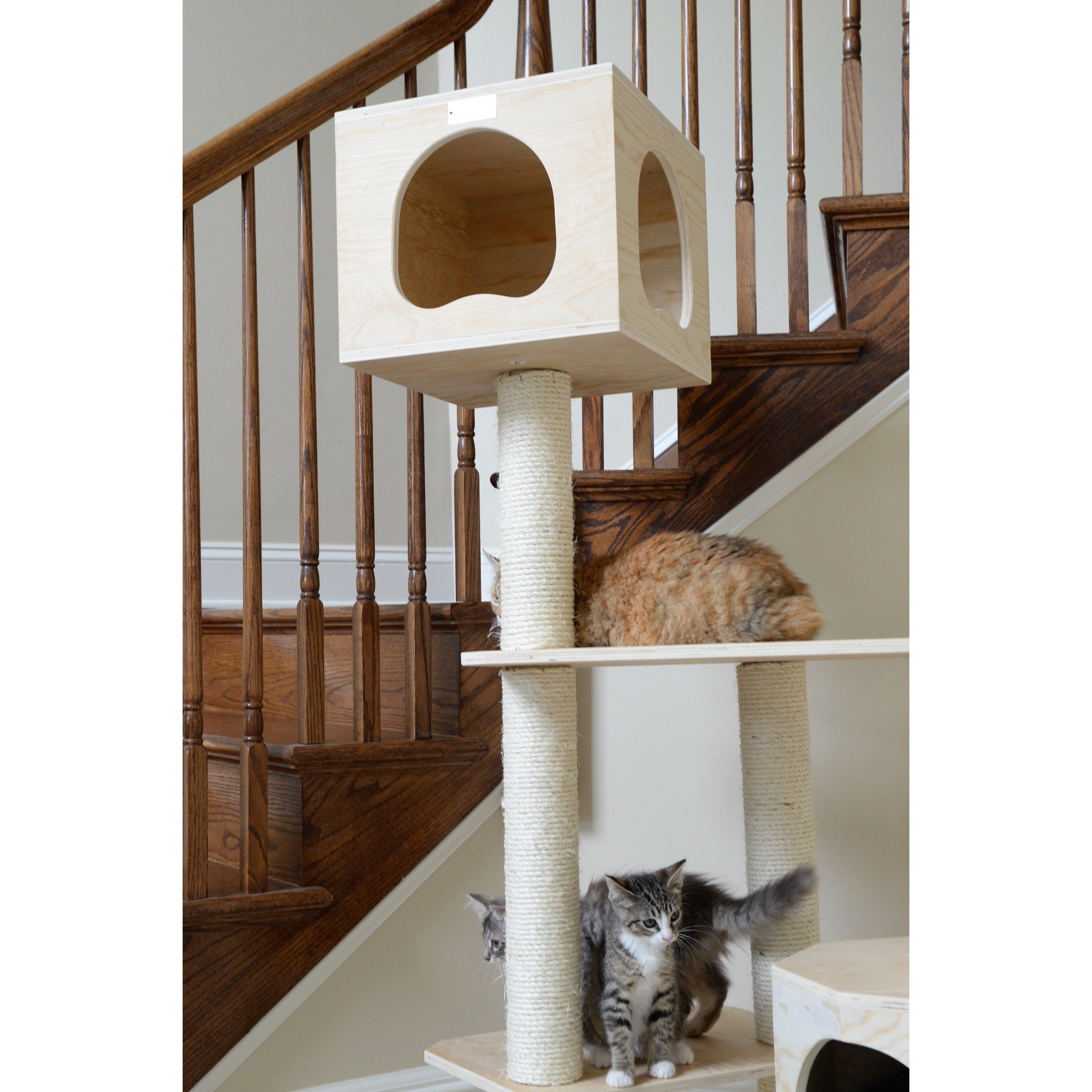 Shop Armarkat Premium Scots Pine Wood 85 Inch Cat Tree   Free Shipping  Today   Overstock.com   8375444