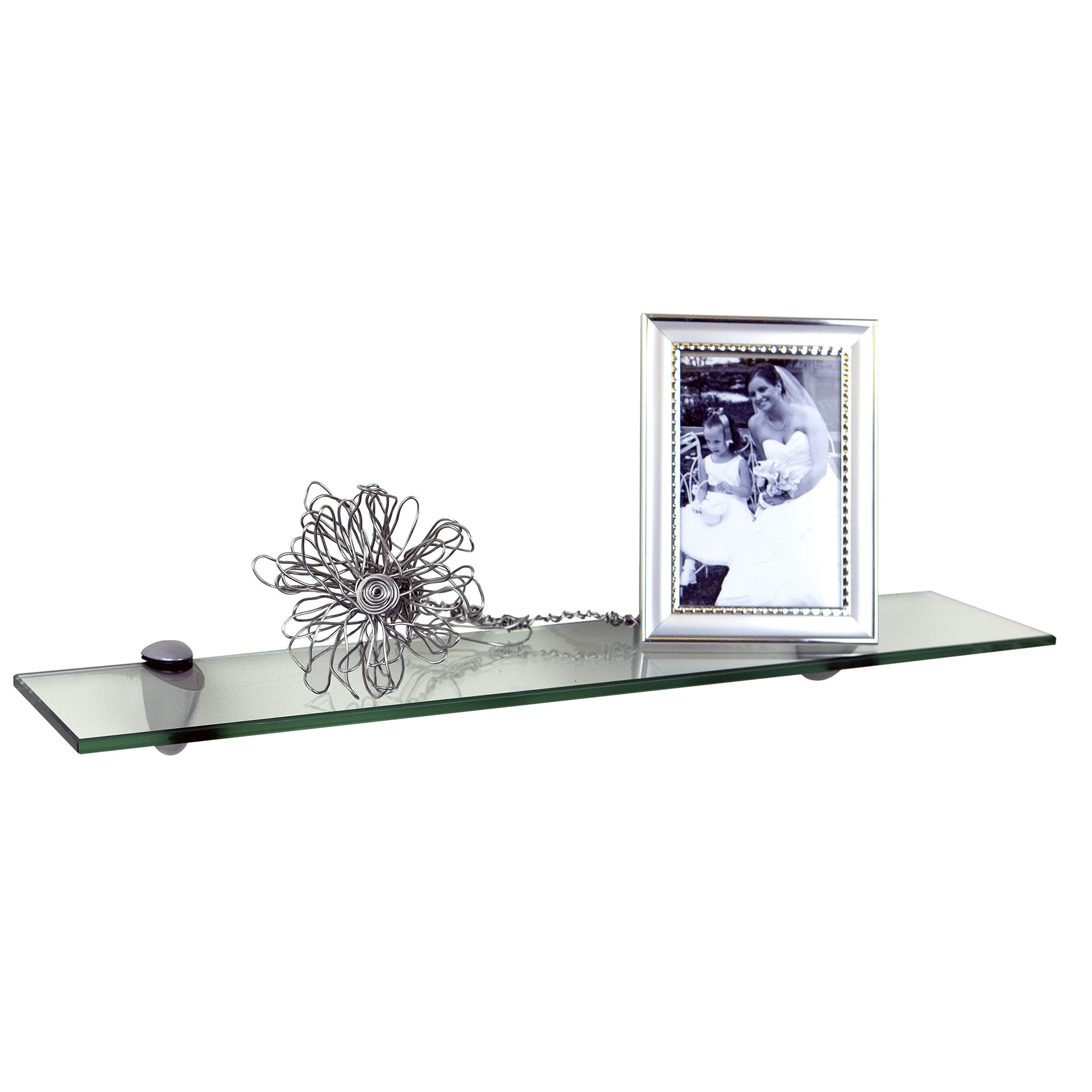 Shop 18 x 4-inch Clear Glass Legacy Shelf - Free Shipping On Orders ...