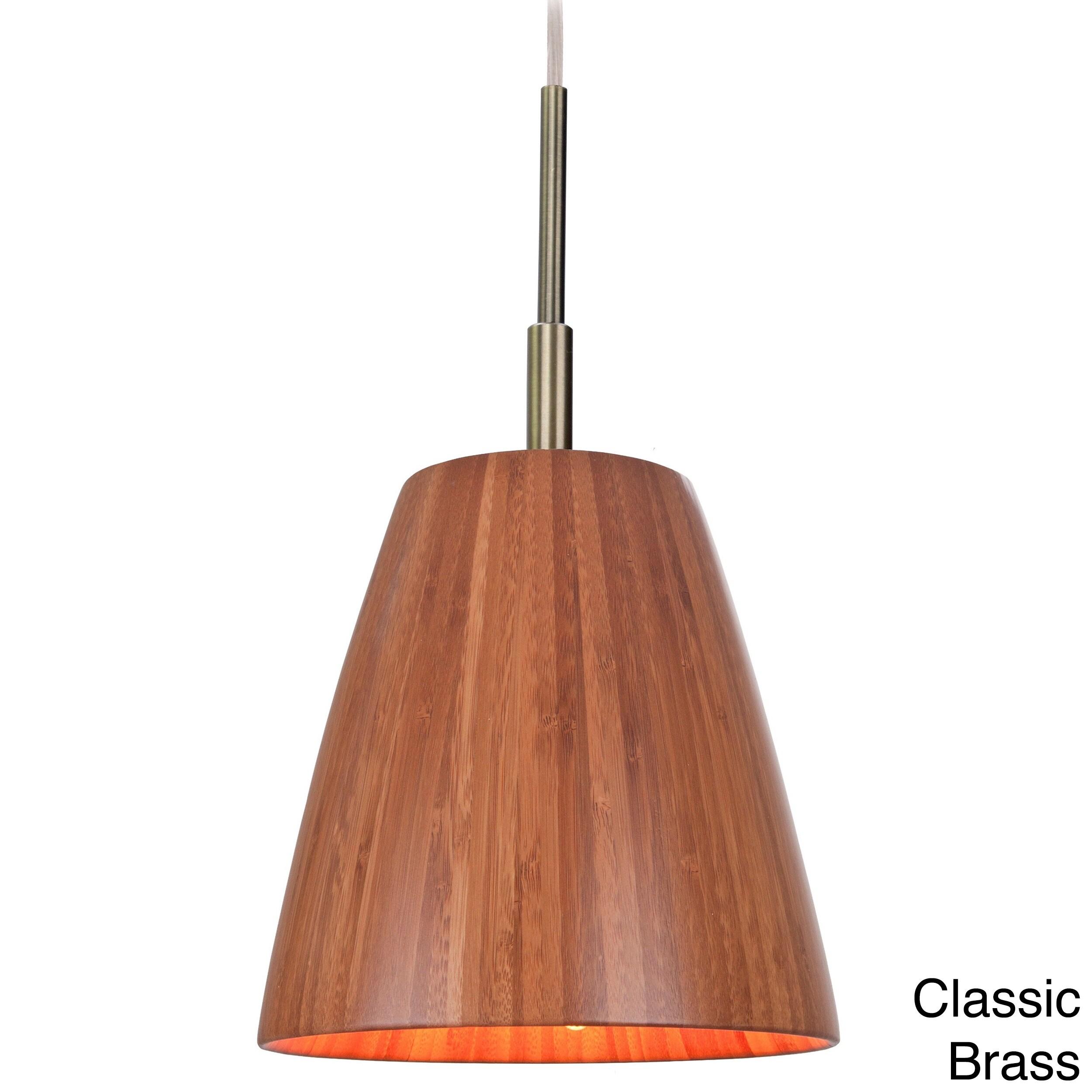 Sorg 1-light Adnap Bamboo Mini Pendant - Free Shipping Today -  Overstock.com - 15682784