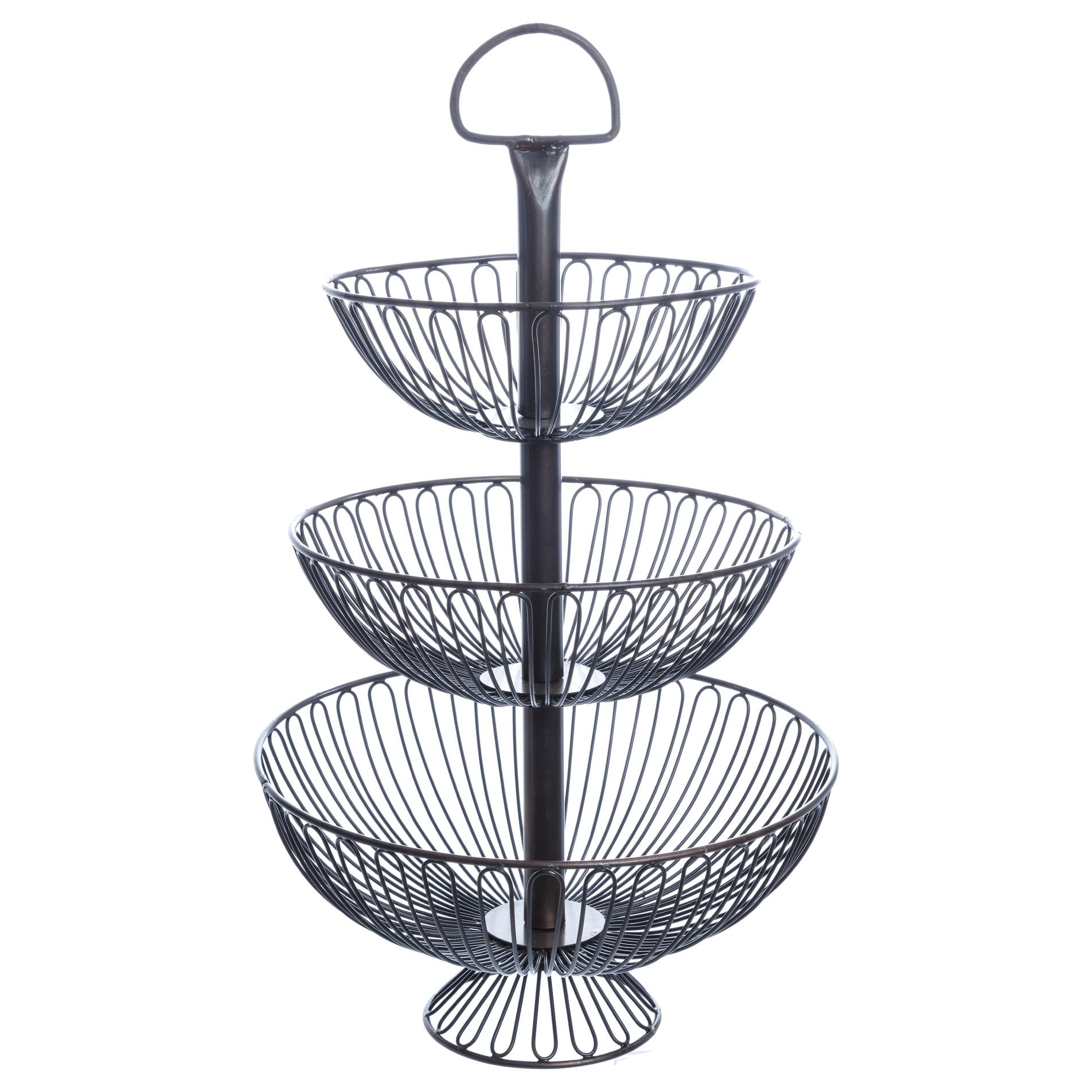 24 Inch Three Tier Decorative Wire Basket Stand Free Shipping Today 8379039