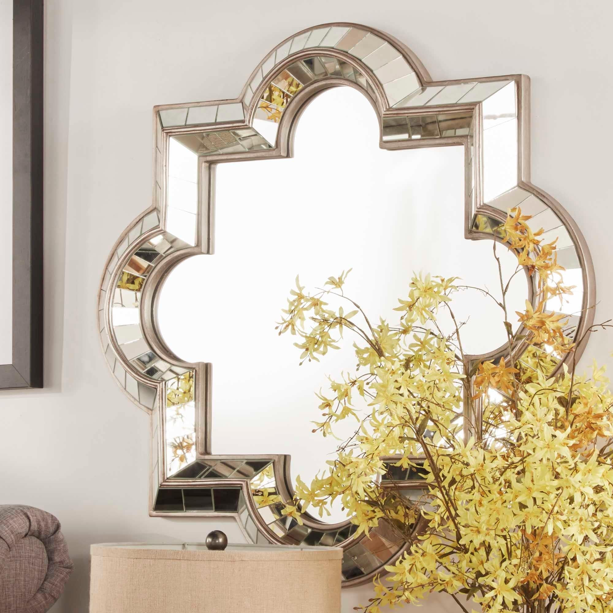 Shop INSPIRE Q Olympia Morrocan Mirrored Frame Accent Wall Mirror ...