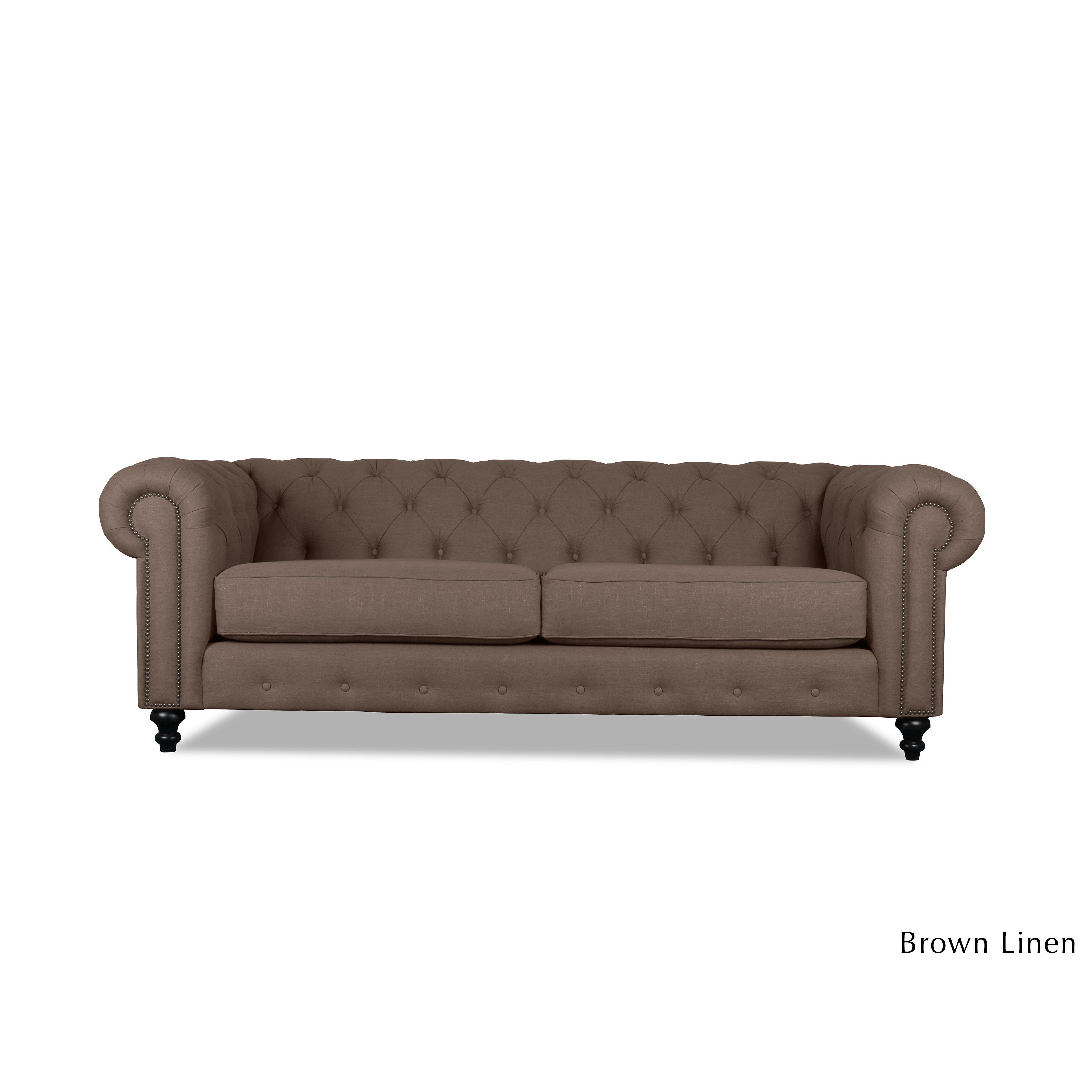 Patrick Chesterfield Tufted Premium Linen Sofa  Free Shipping Today