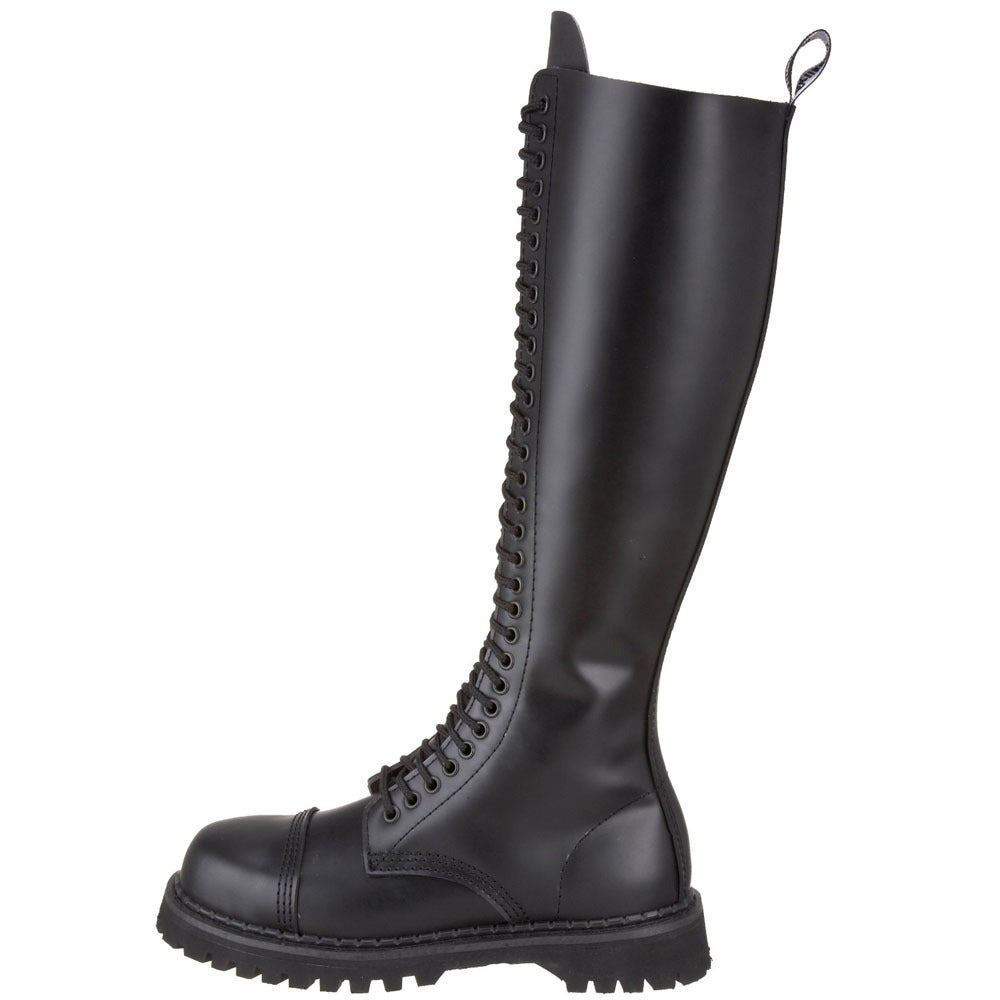 228d3ffc19a Shop Demonia Men s  Rocky-14  Black Leather 14-eyelet Mid-calf Boots - Free  Shipping Today - Overstock - 8382095