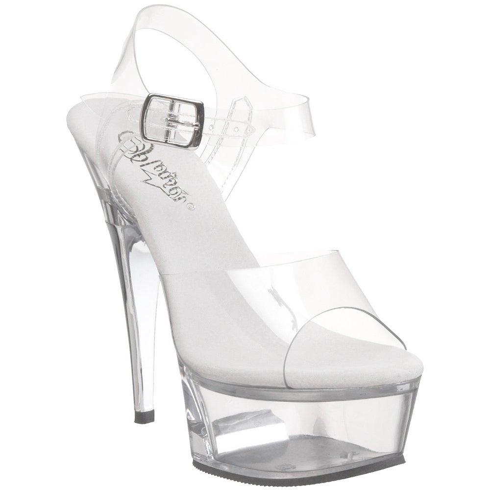 3e23ee22125 Shop Pleaser Women s  Captiva-608  Clear Platform Sandals - Free Shipping  Today - Overstock - 8382126