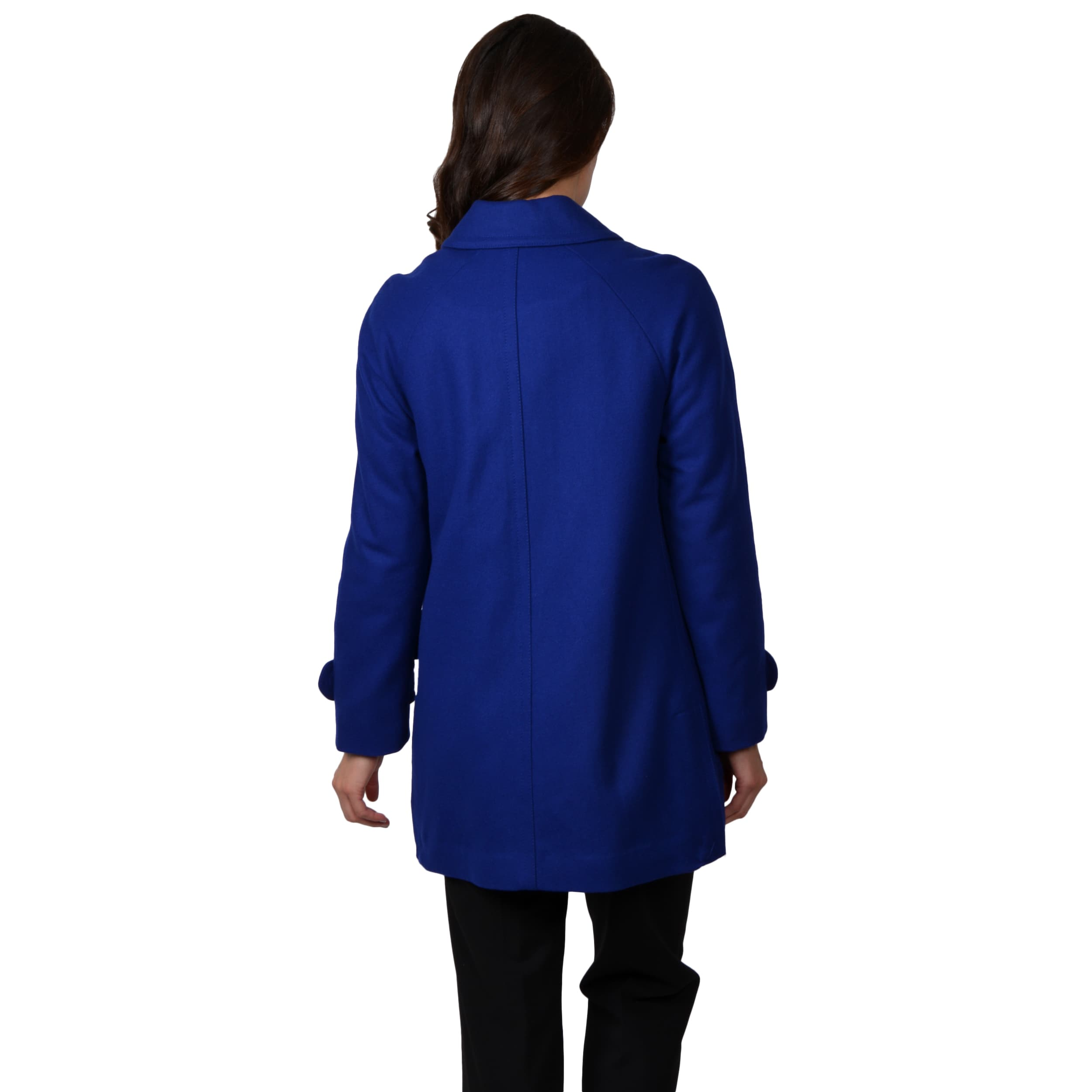 ed376ef0380 Shop Ellen Tracy Women s Wool Blend Stadium Coat - Free Shipping Today -  Overstock - 8386069