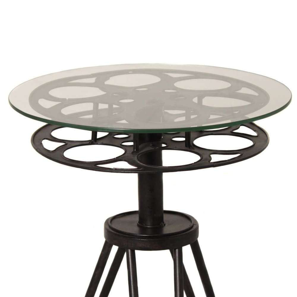 Shop Round Top Hollywood Film Reel Table   Free Shipping Today    Overstock.com   8386172