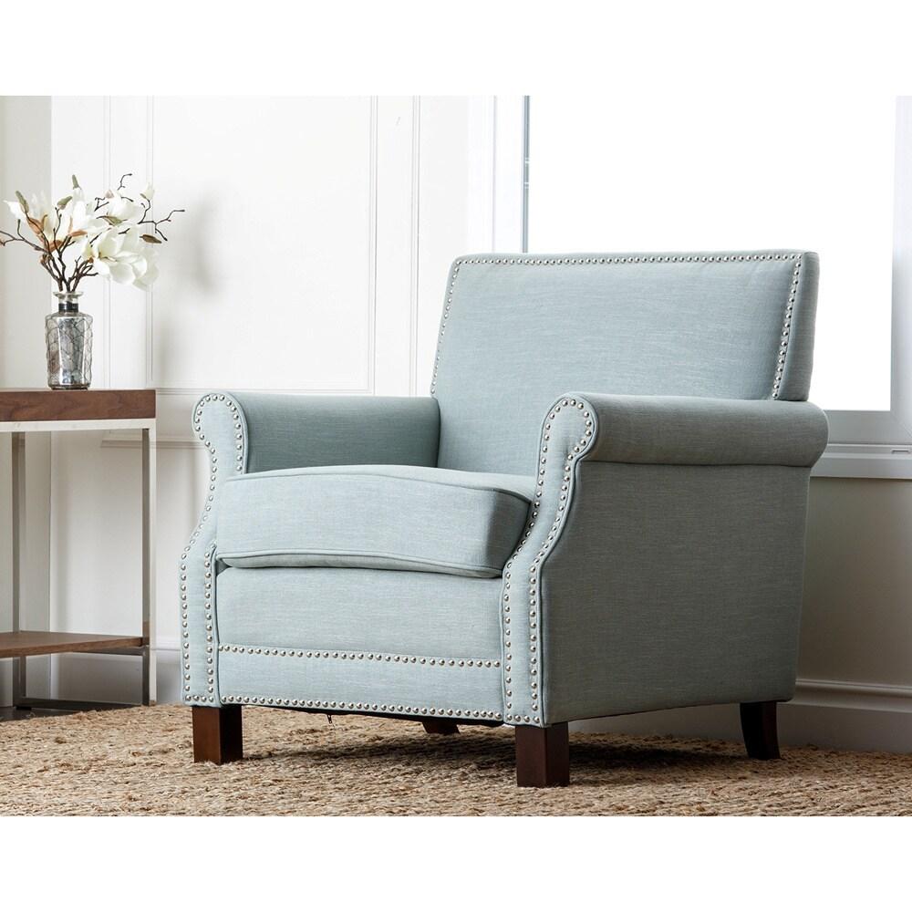 Shop Abbyson Living Becca Nailhead-trim Armchair - Free Shipping ...
