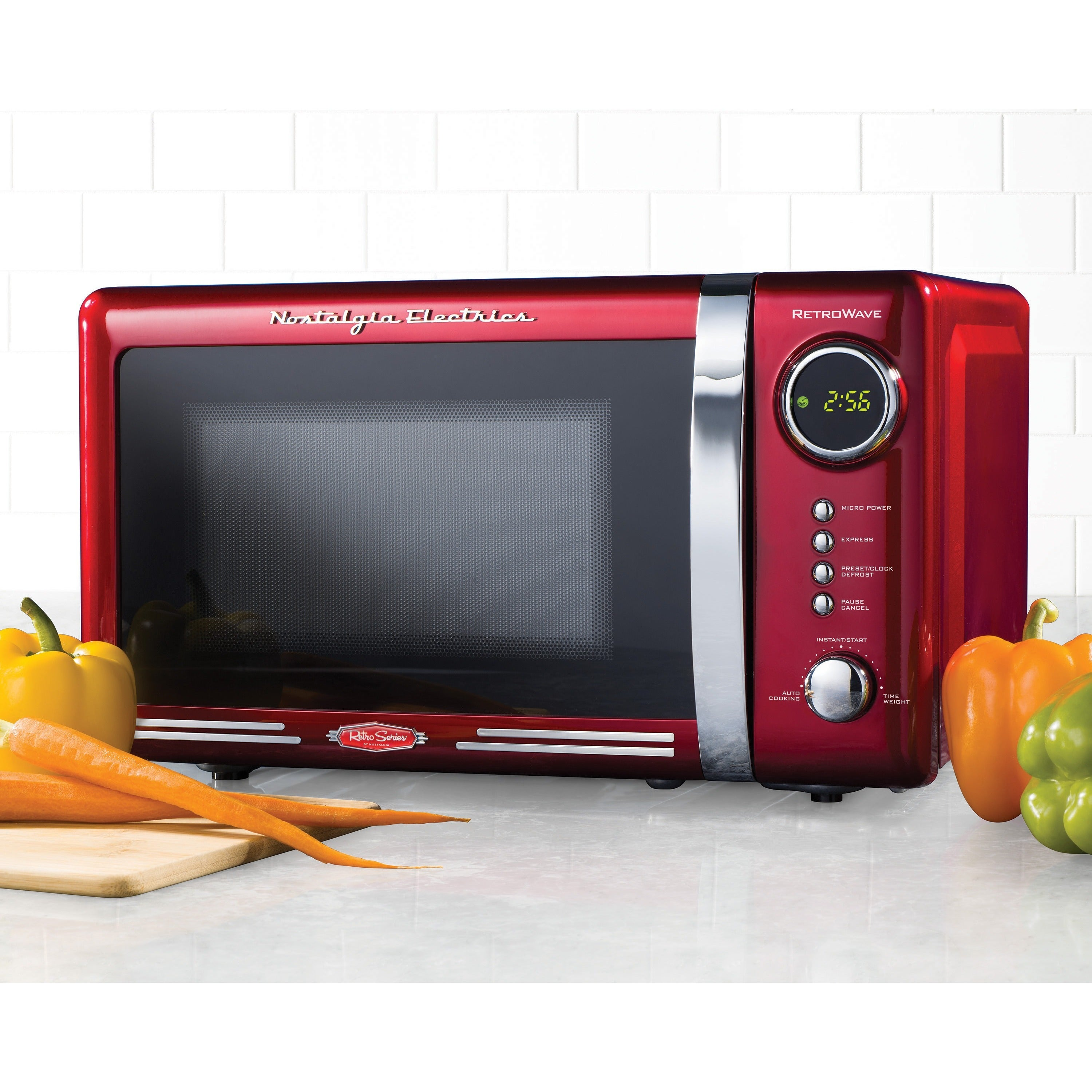 Nostalgia Retro Series Red Finish 0 7 Cubic Foot Microwave Oven Free Shipping Today 15691191