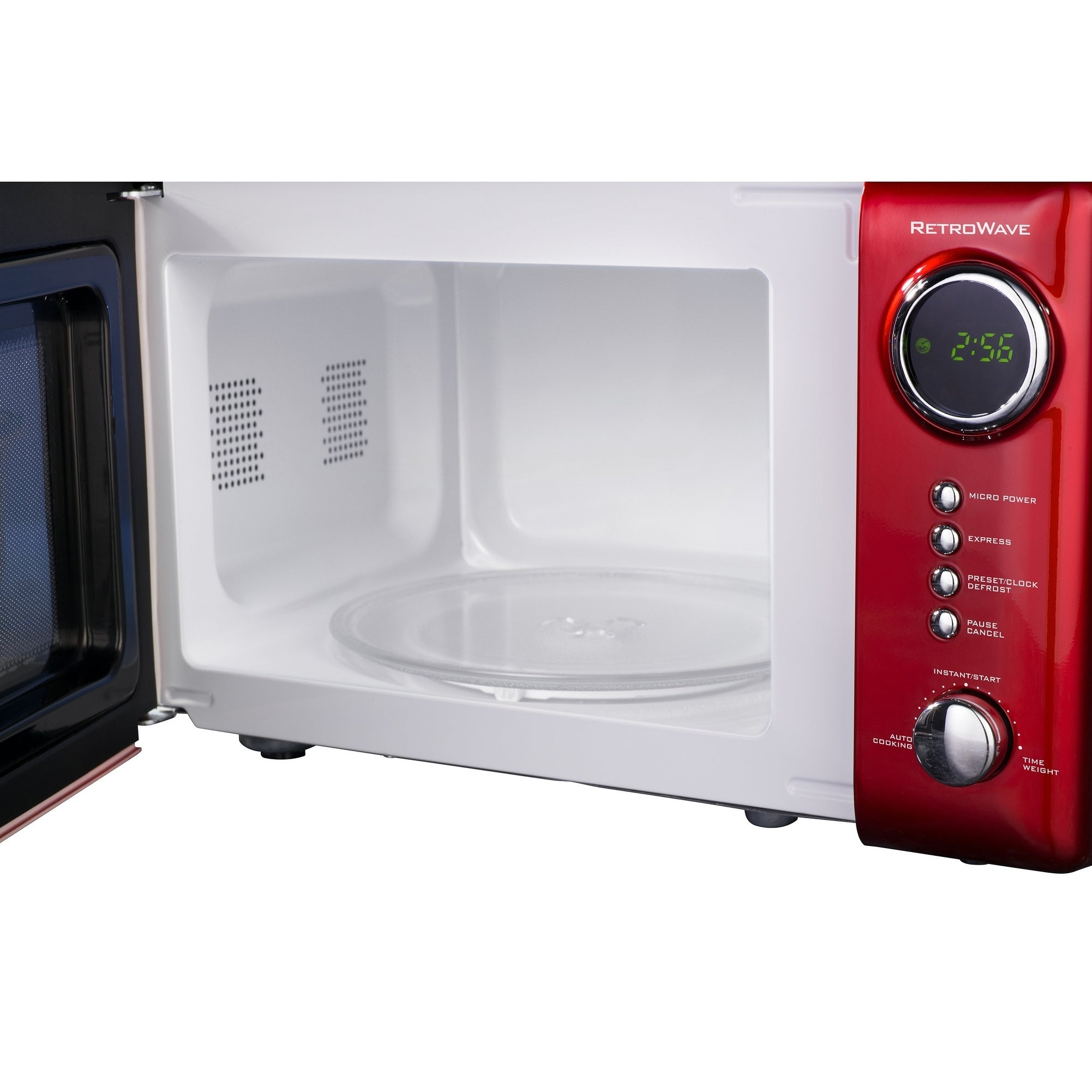 Nostalgia Rmo770red Retro 0 7 Cubic Foot 700 Watt Countertop Microwave Oven Red Free Shipping Today 8388172