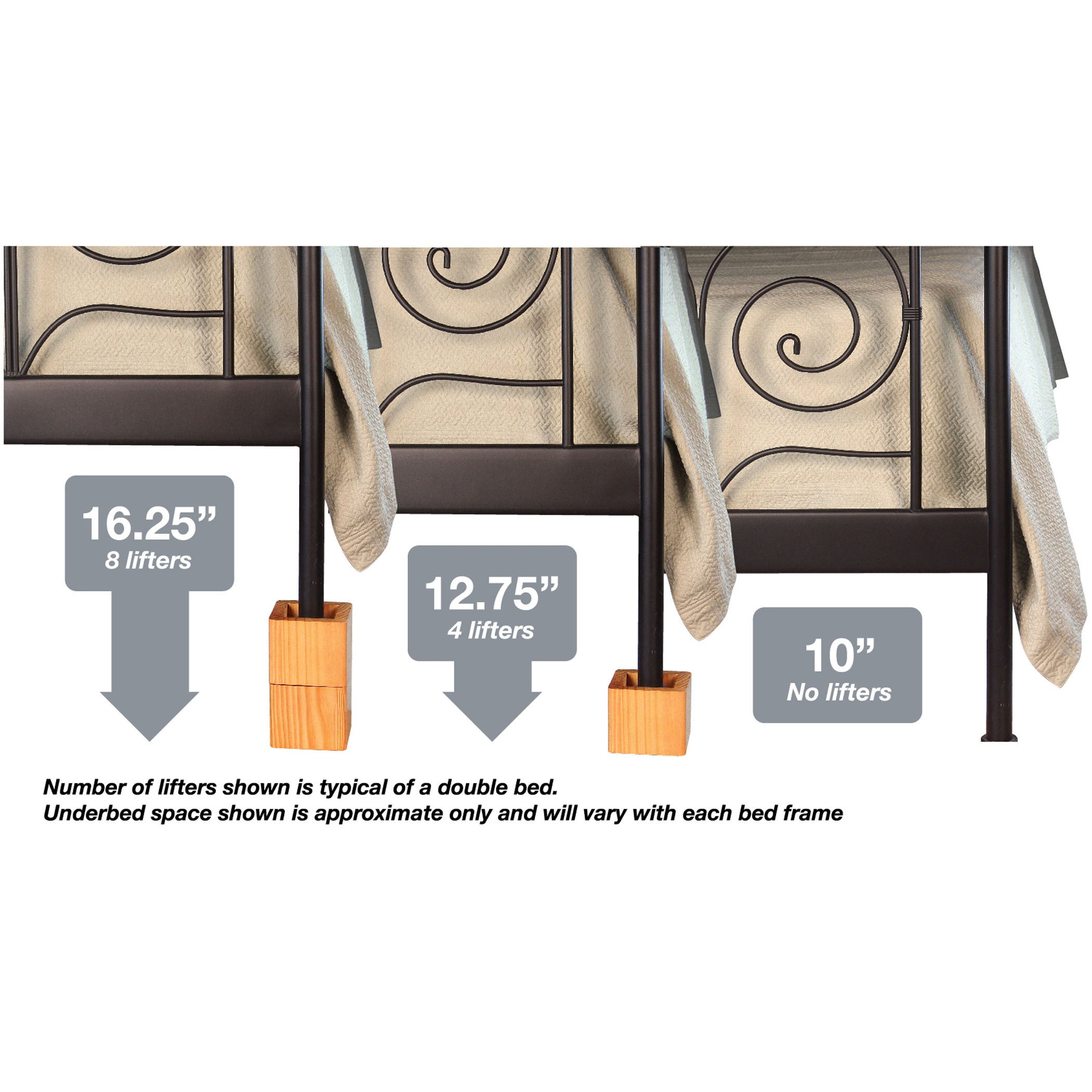 shop richards homewares furniture bed risers table set of 4 free