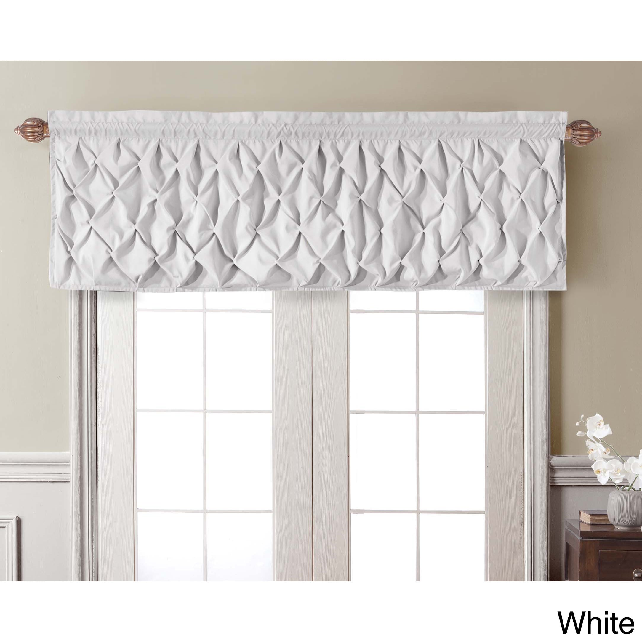 large lilac valances damask gray rod antique white traditions designs and with navy pocket carousel accent trim valance coordinating window