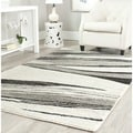 Safavieh Retro Modern Chic Abstract Light Grey/ Ivory Rug (8'9 x 12')