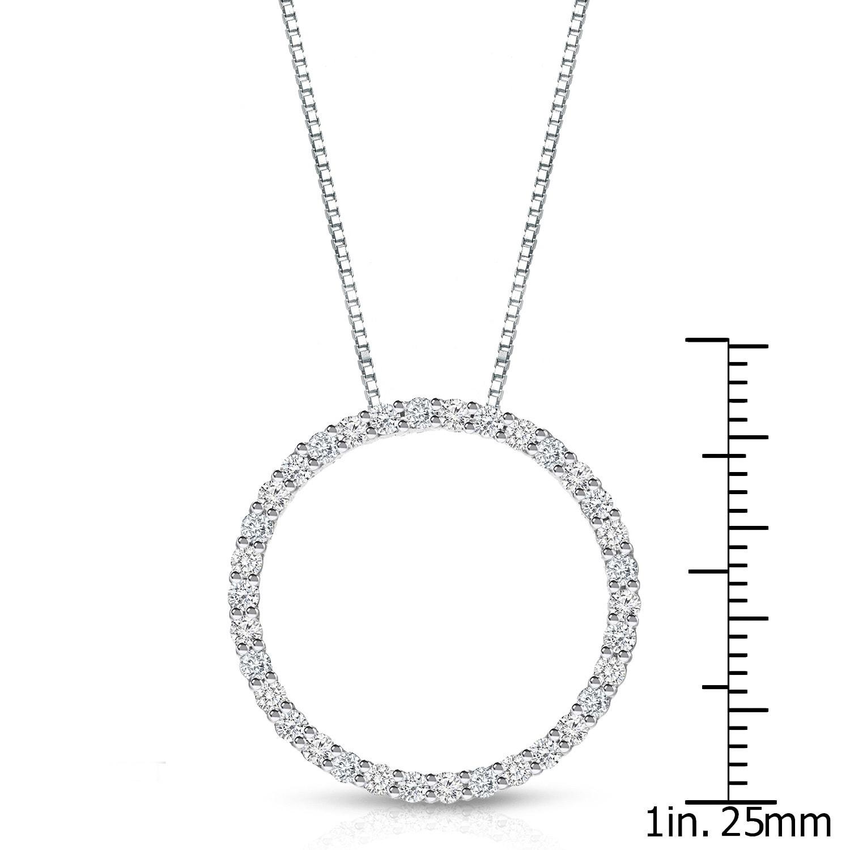 Shop auriya 14k white gold fashion circle diamond necklace on sale shop auriya 14k white gold fashion circle diamond necklace on sale free shipping today overstock 8398580 aloadofball Images