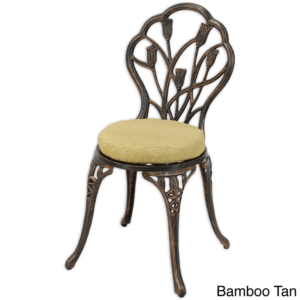 Shop Somette 14 Inch Round Outdoor Foam Chair Cushion Set Of 2