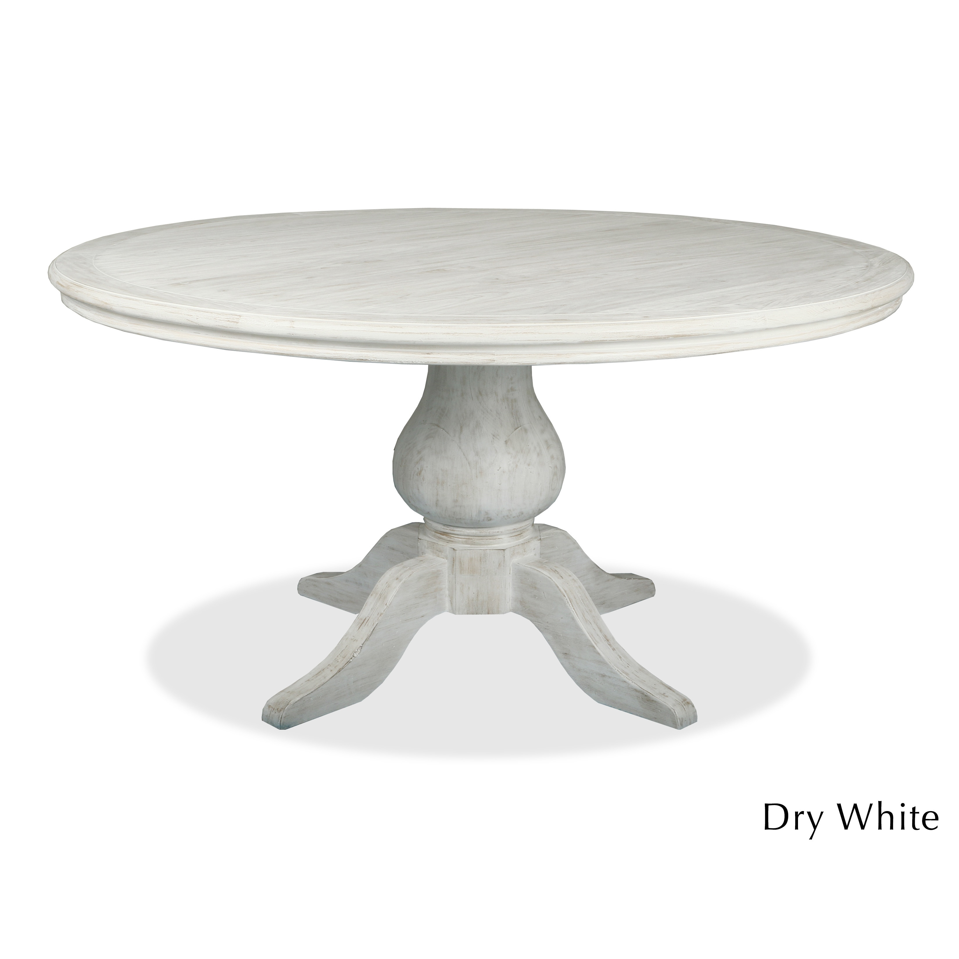 La France Reclaimed Wood Round Distressed Dining Table Free