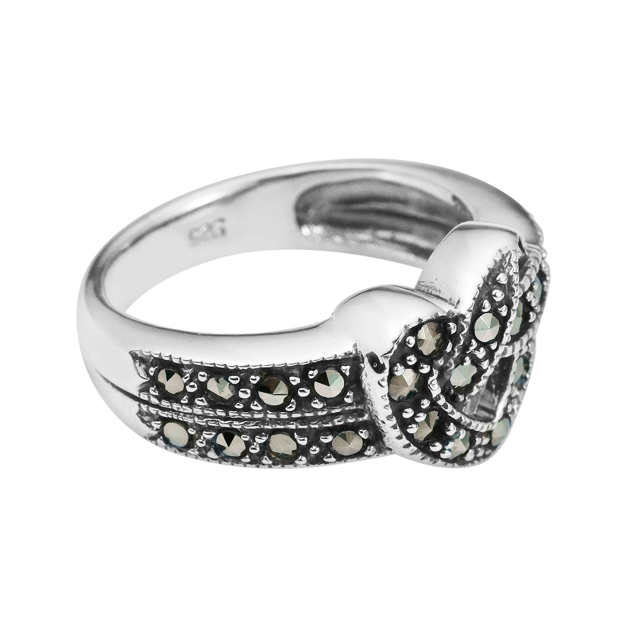 classic thailand details crafted flower silver style pr from flowers ring this sterling of design rings made products sweet plain yet marcasite features hawaiian aeravida triple