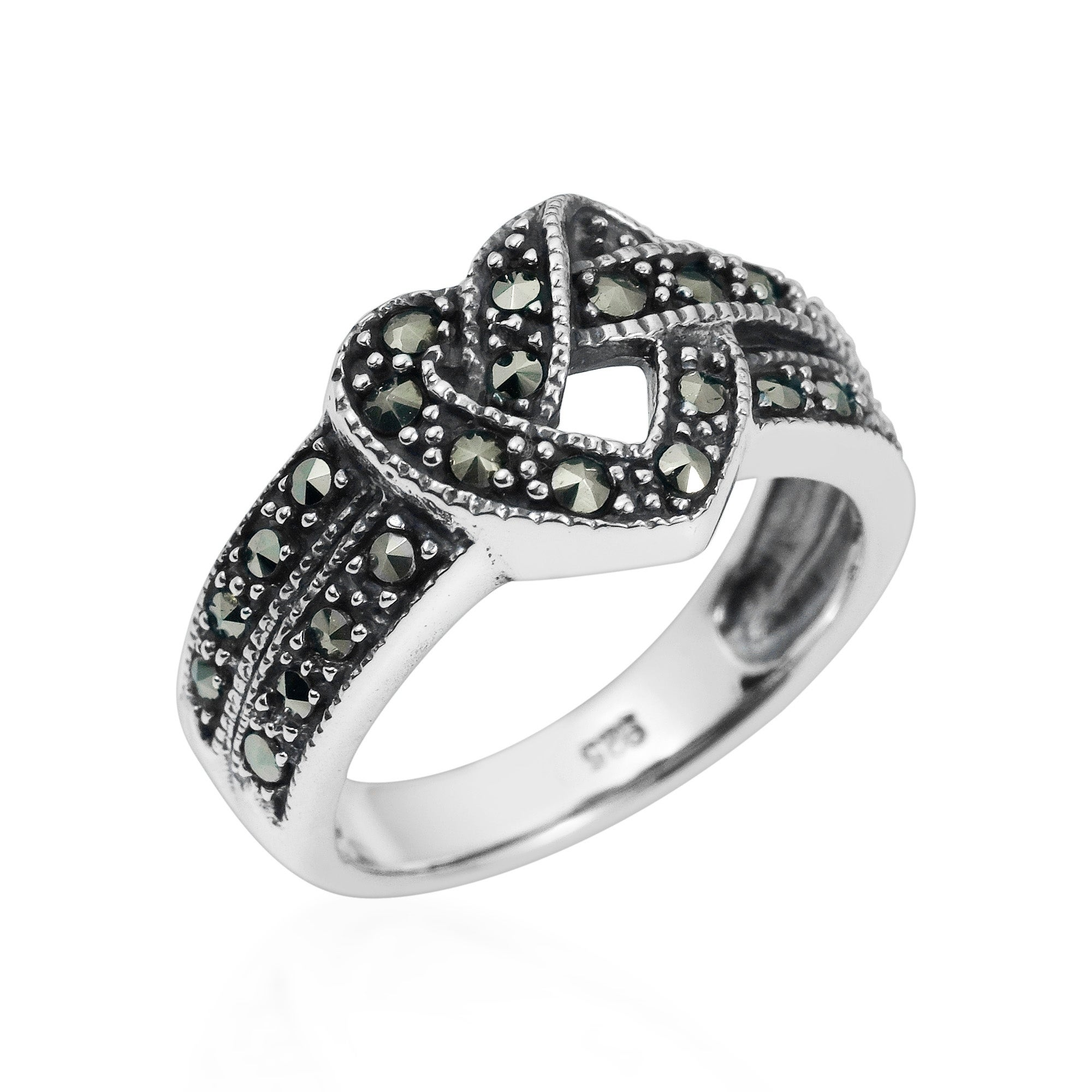 sterling a gemstones design star dazzles gemstone with fill swirl mr the products ring details fashionable aeravida this captivating piece front in for of rings style marcasite silver cute grace
