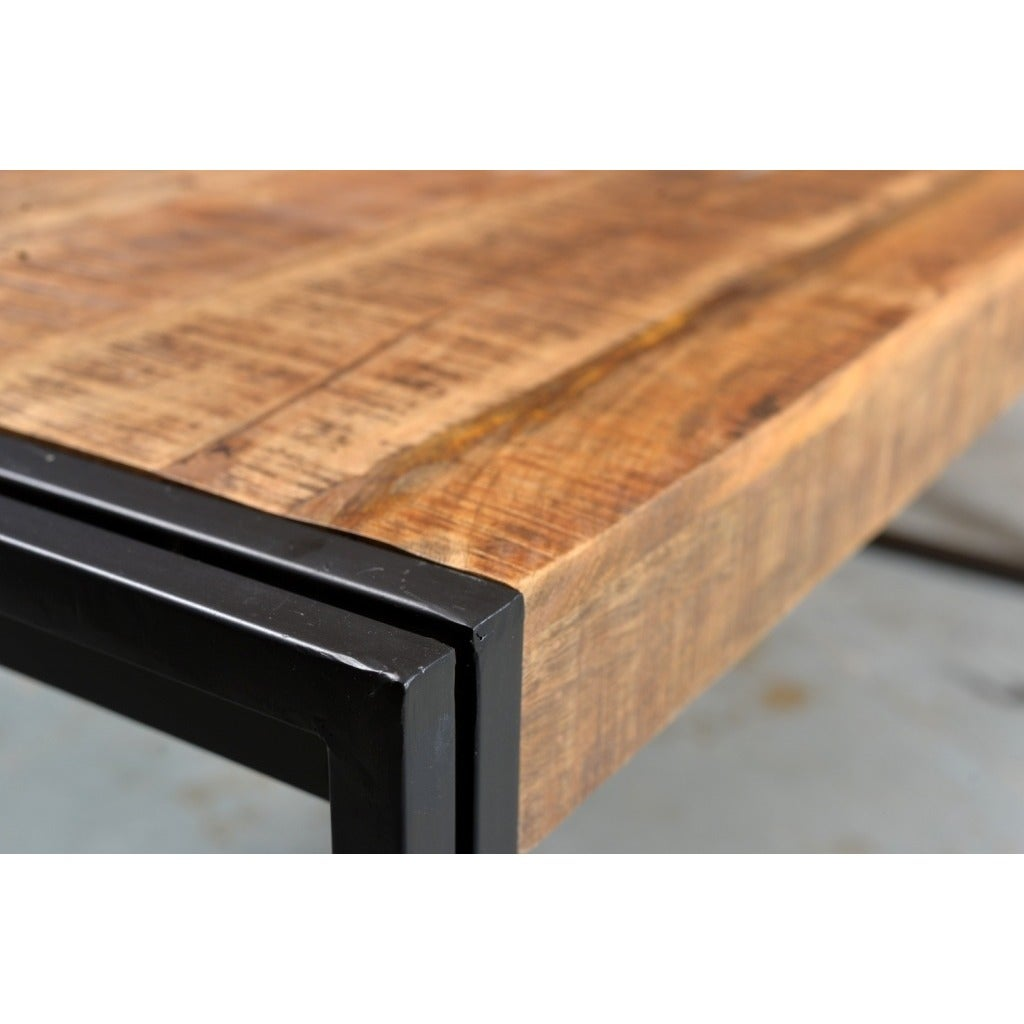 reclaimed wood and metal dining table wood furniture shop handmade timbergirl reclaimed wood and metal dining table india on sale free shipping today overstockcom 8401748