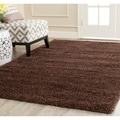 Safavieh Milan Shag Brown Rug (4' x 6')