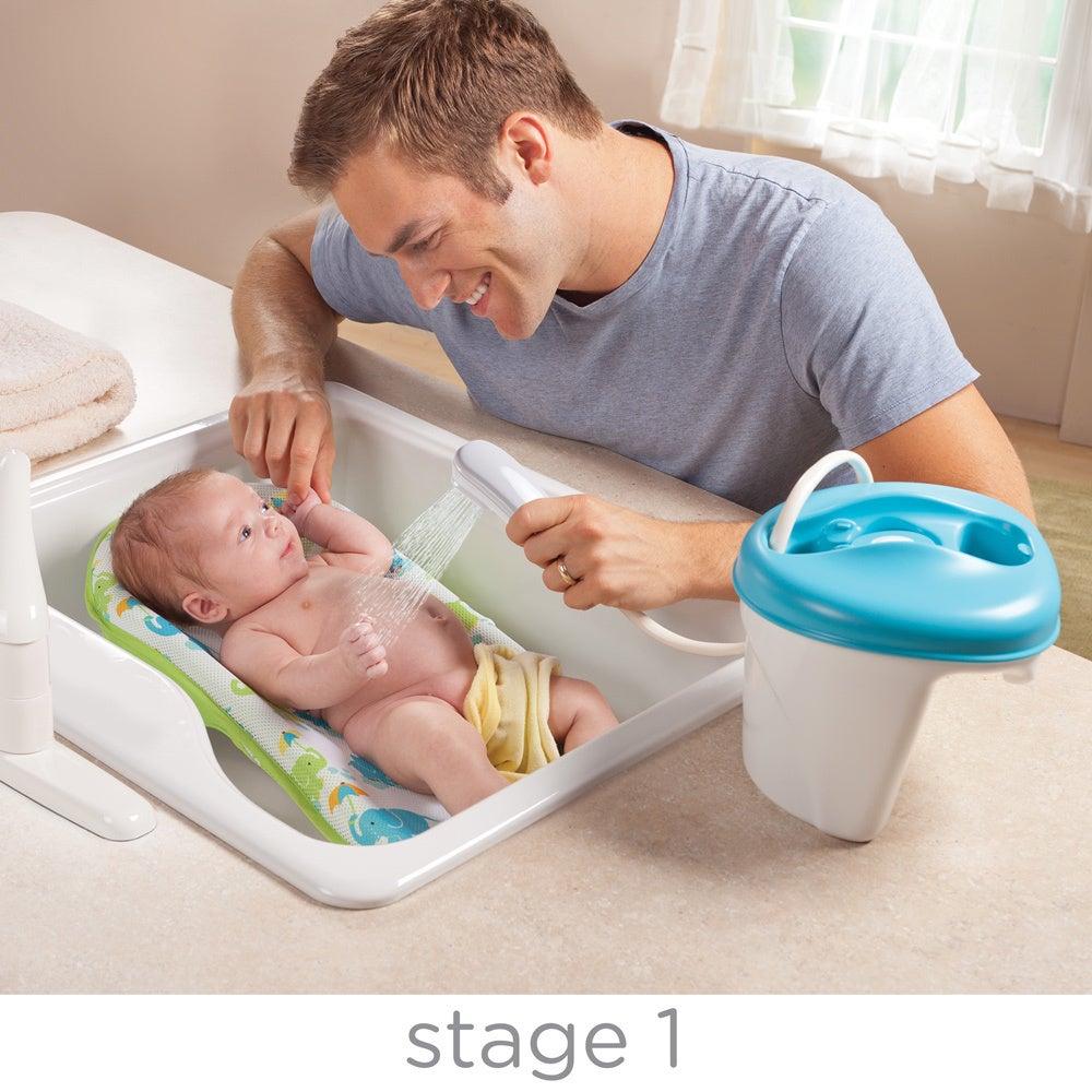 Shop Summer Infant Newborn-to-Toddler Bath/ Shower Center in Blue ...