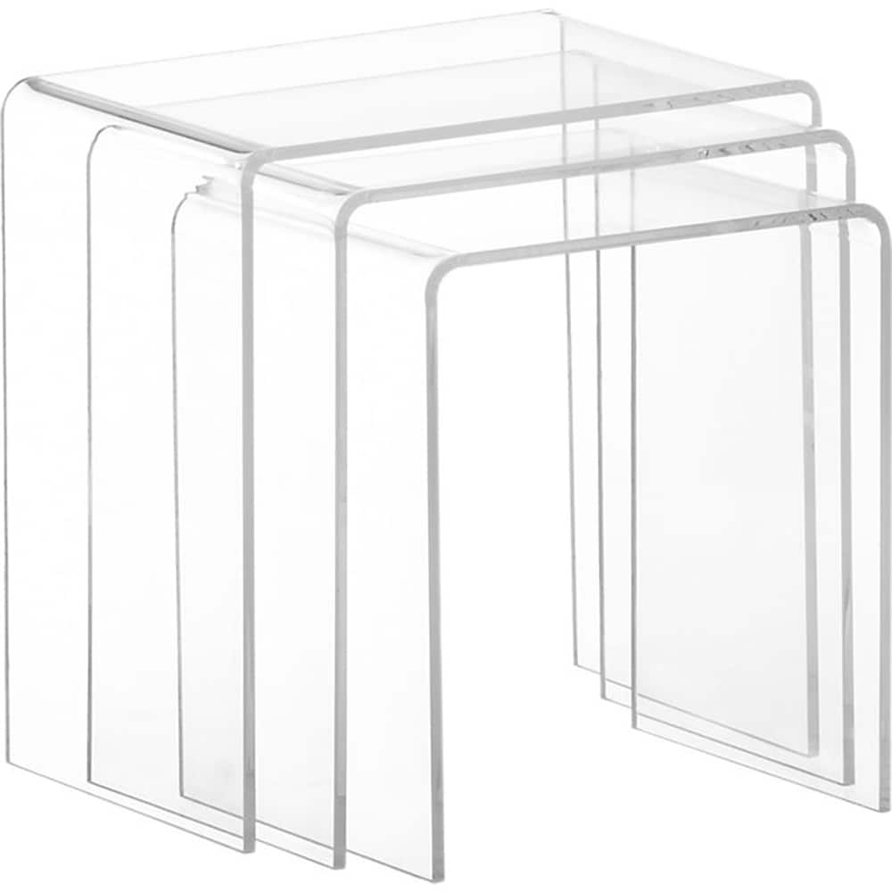 Clear acrylic square nesting tables set of 3 free shipping today clear acrylic square nesting tables set of 3 free shipping today overstock 15707280 watchthetrailerfo