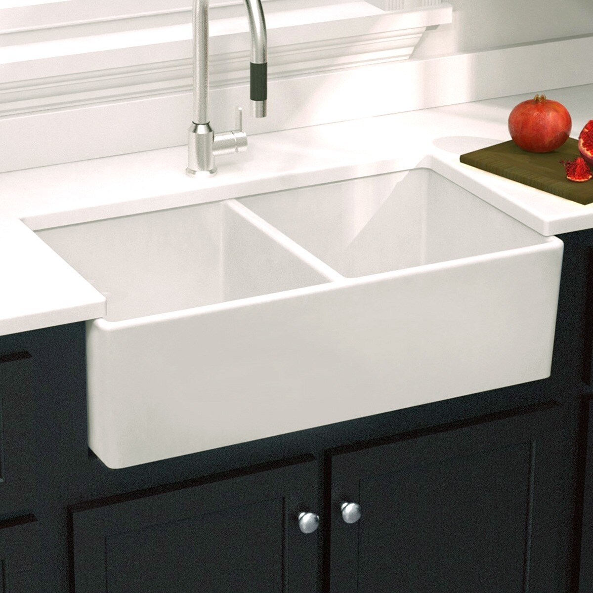 Gentil Shop Highpoint Collection Double Bowl Fireclay Farmhouse Sink   33 X 18 X  10   On Sale   Free Shipping Today   Overstock.com   8408348