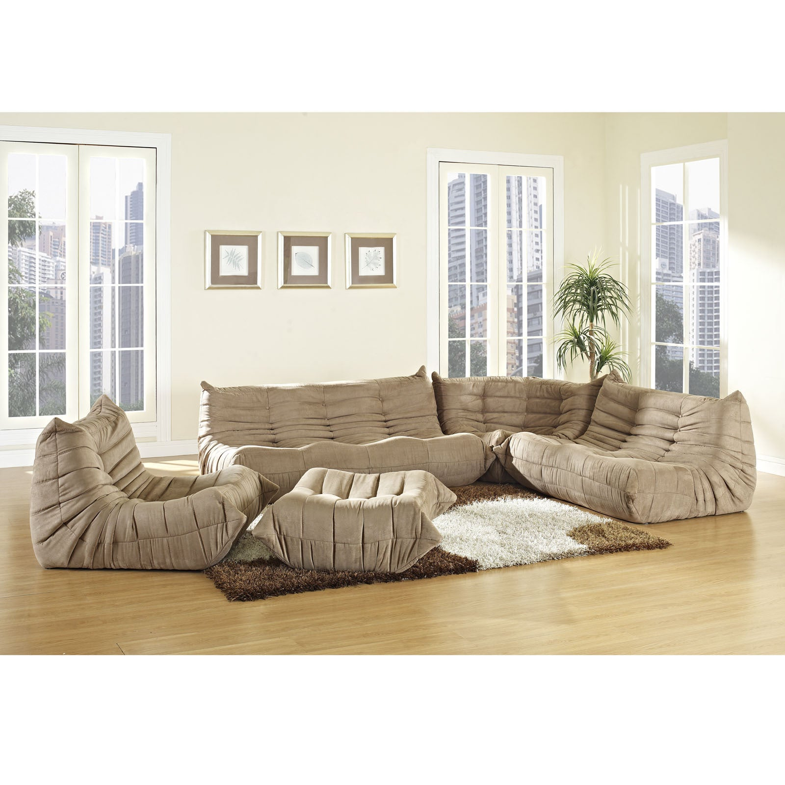 Waverunner Modular Sectional Sofa Set 5 Piece Free Shipping Today 8408917