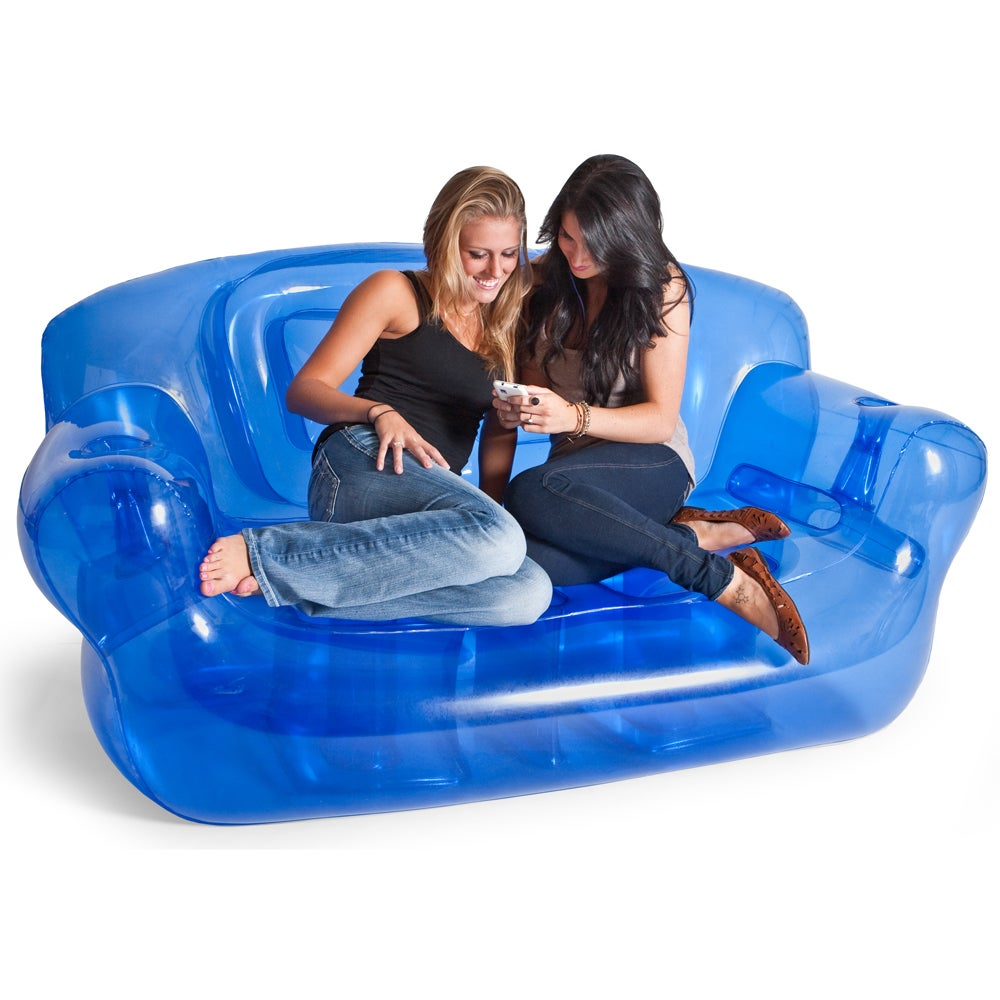 Shop smoke black inflatable bubble couch free shipping today overstock com 8409126