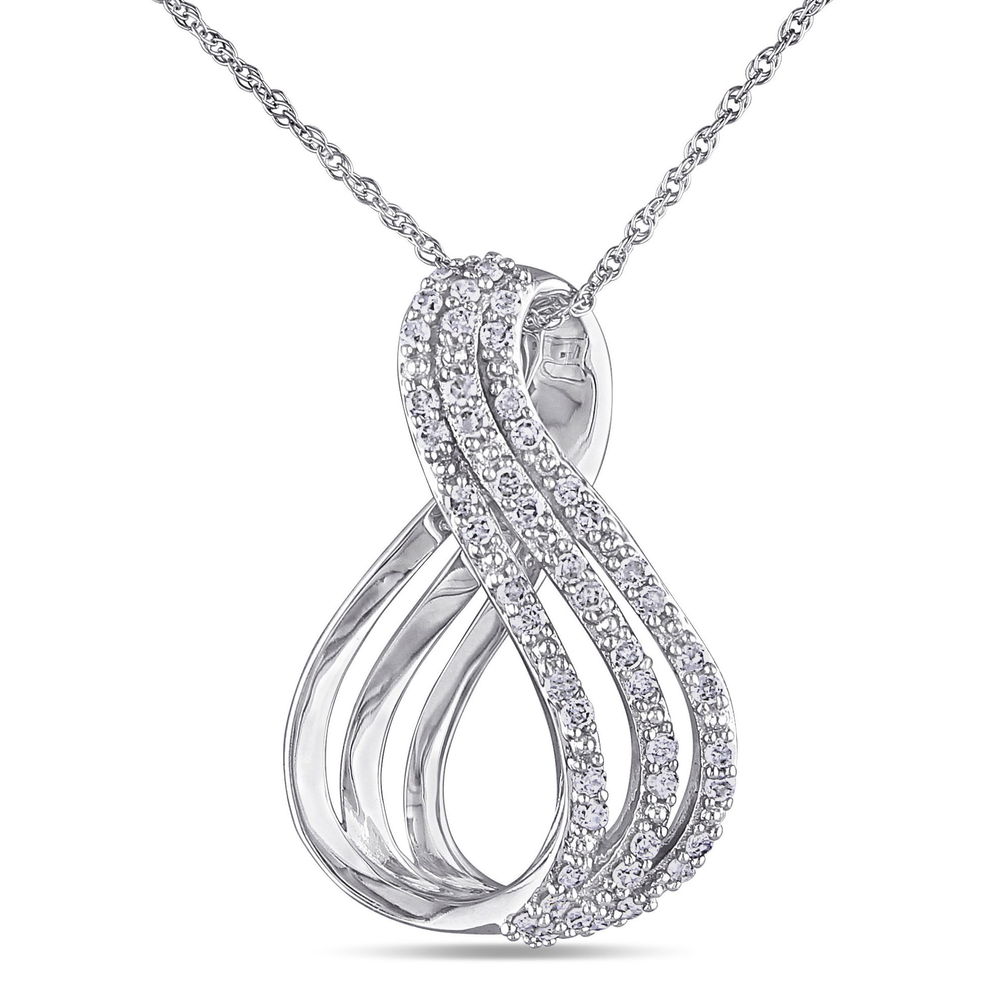 tw necklace gold diamond ct white round itm baguette