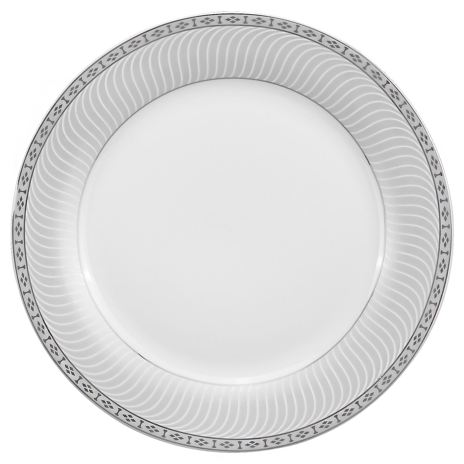 Shop Lorren Home Trends 57-piece Porcelain Silver Accent Dinnerware Set - On Sale - Free Shipping Today - Overstock.com - 8418974  sc 1 st  Overstock & Shop Lorren Home Trends 57-piece Porcelain Silver Accent Dinnerware ...