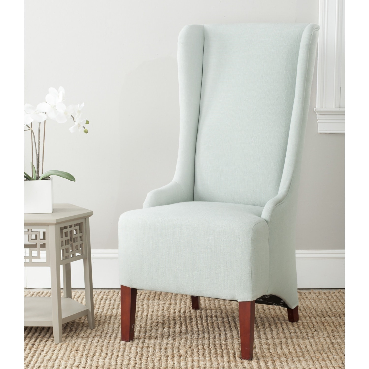 Safavieh En Vogue Dining Bacall Seafoam Green Dining Chair - Free ...