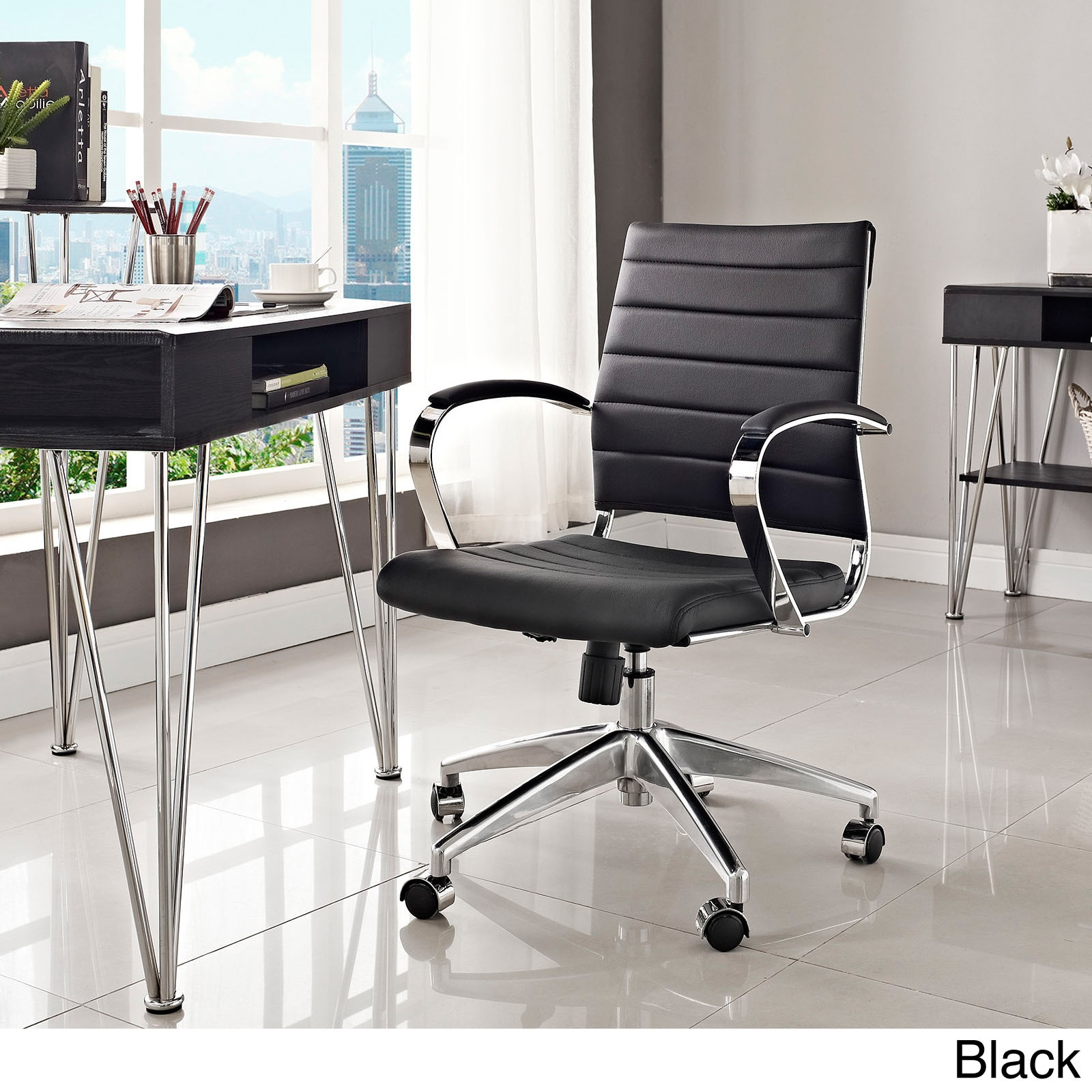 edge base gry eei depot in white gray chair modway office the home p chairs