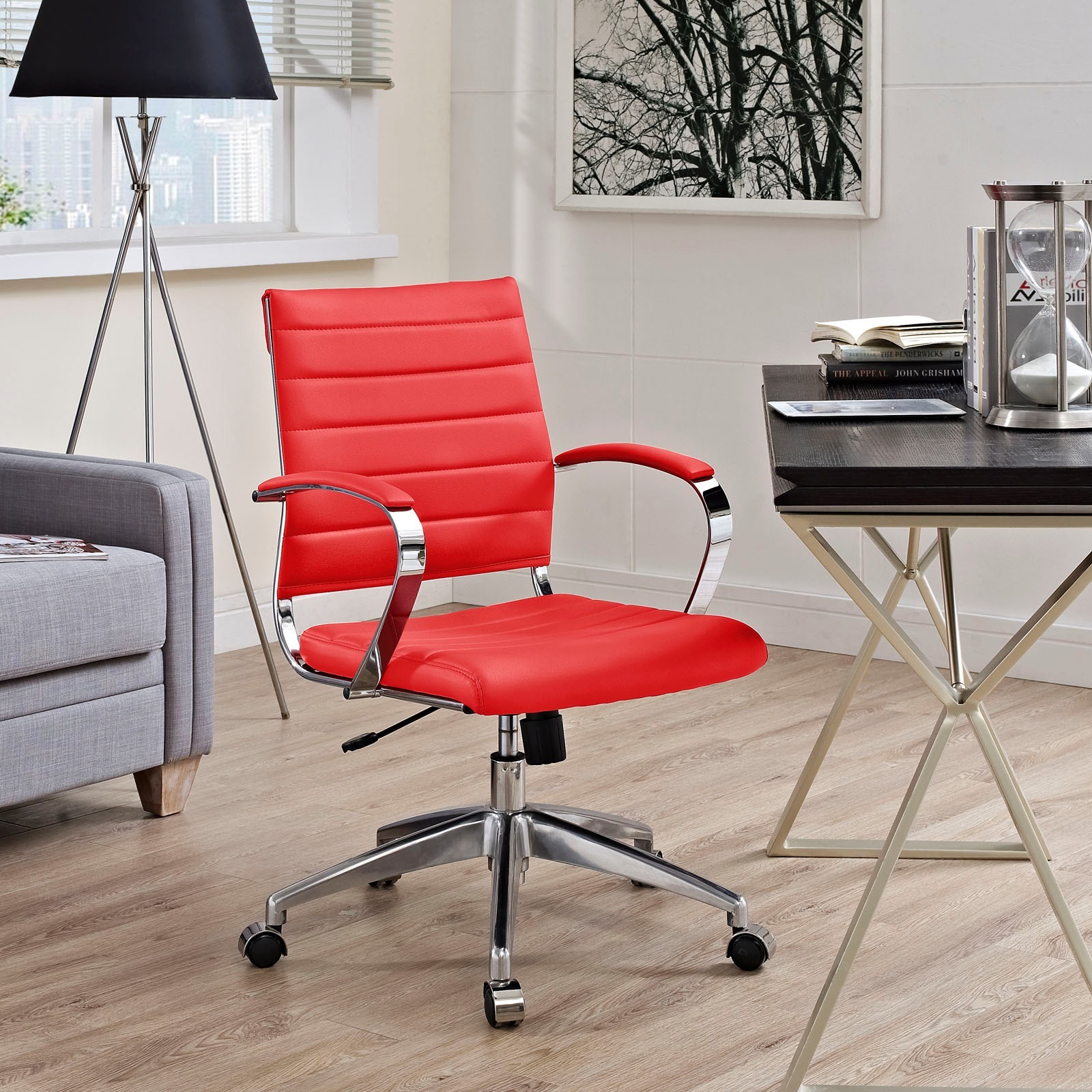 chair studio in faux com modway swivel leather dp red dining amazon task kitchen office