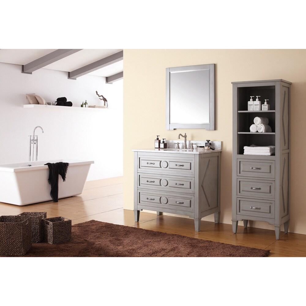Shop Avanity Kelly 36-inch Single Vanity in Grey/ Blue Finish with ...
