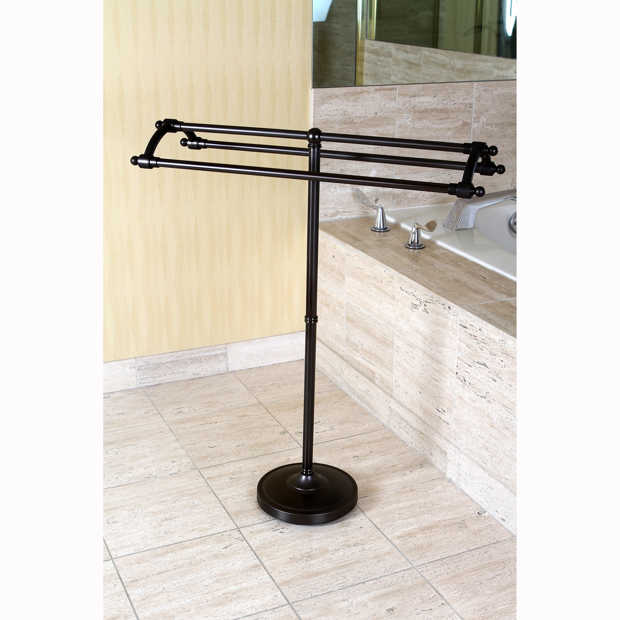 standing towel rack oil rubbed bronze. Oil Rubbed Bronze Pedestal Bath Towel Rack Free Shipping Today Standing