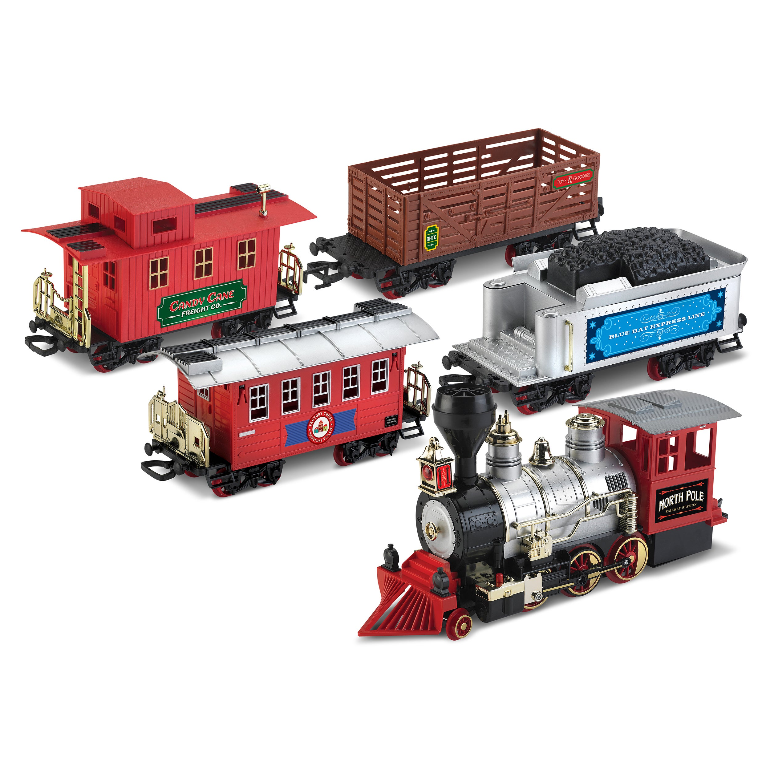 Shop Blue Hat North Pole Junction Christmas Battery-operated Train ...