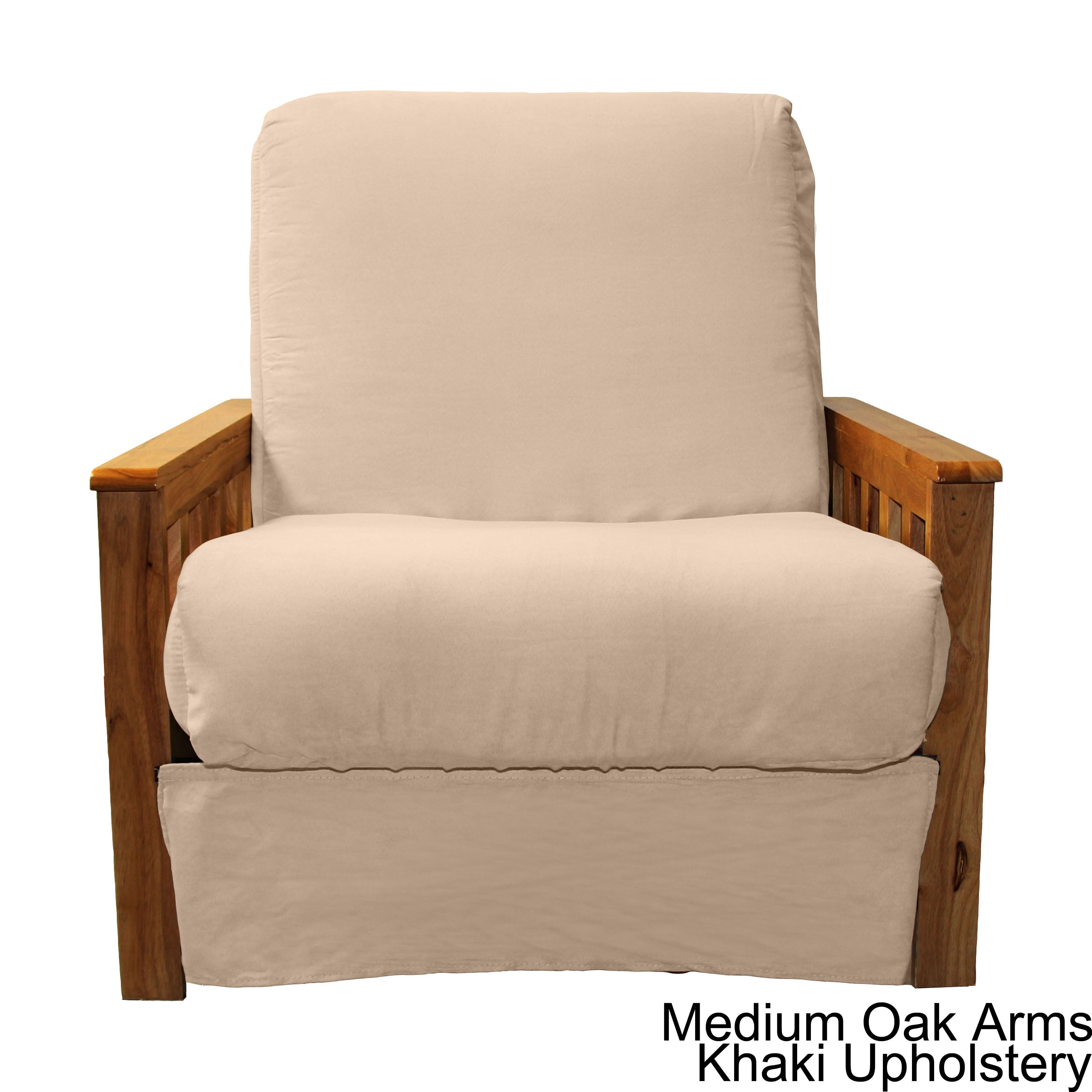 Shop Pine Canopy Shenandoah Mission Style Pillow Top Futon Chair   On Sale    Free Shipping Today   Overstock.com   20469476