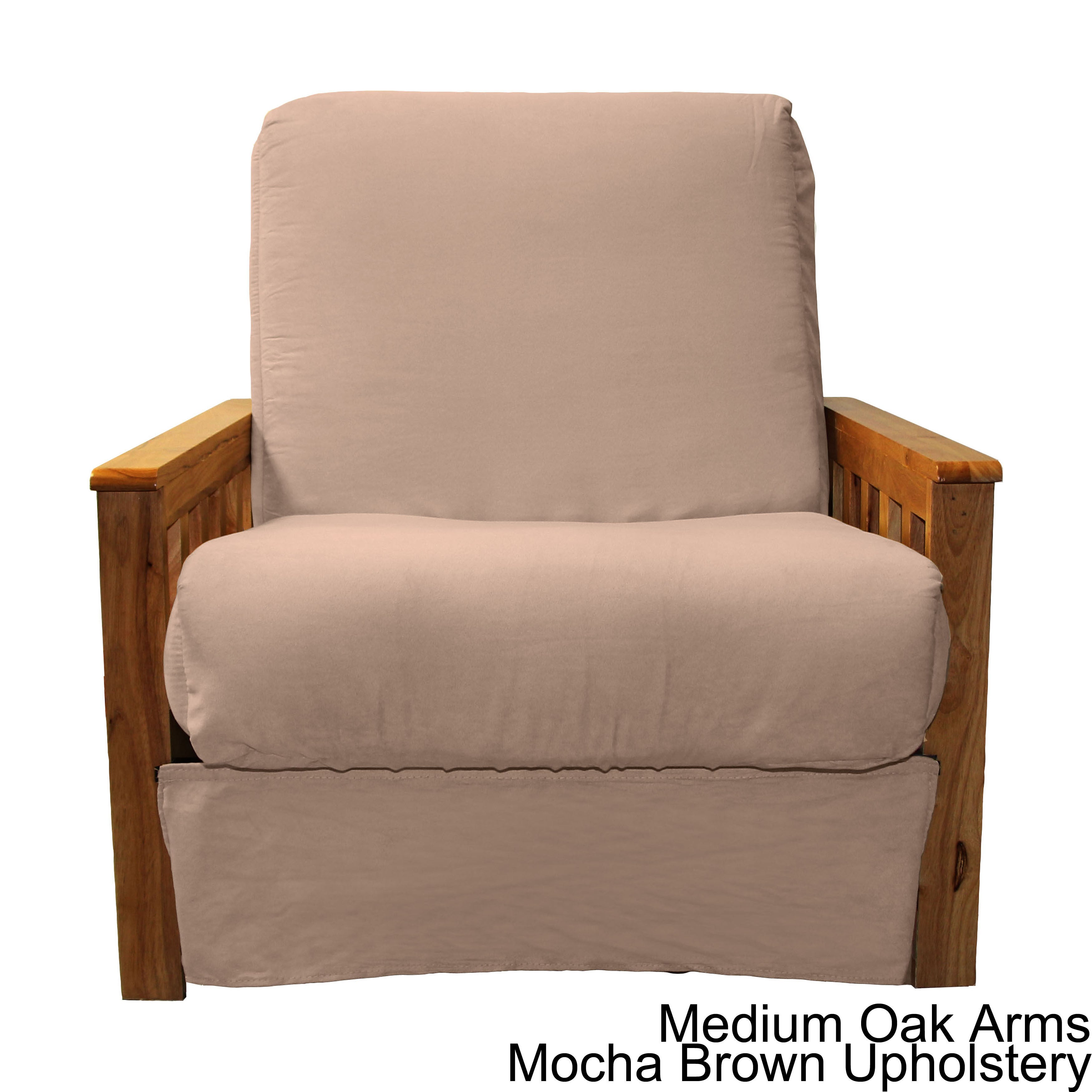Shop copper grove shenandoah mission style pillow top futon chair on sale free shipping today overstock com 20469476