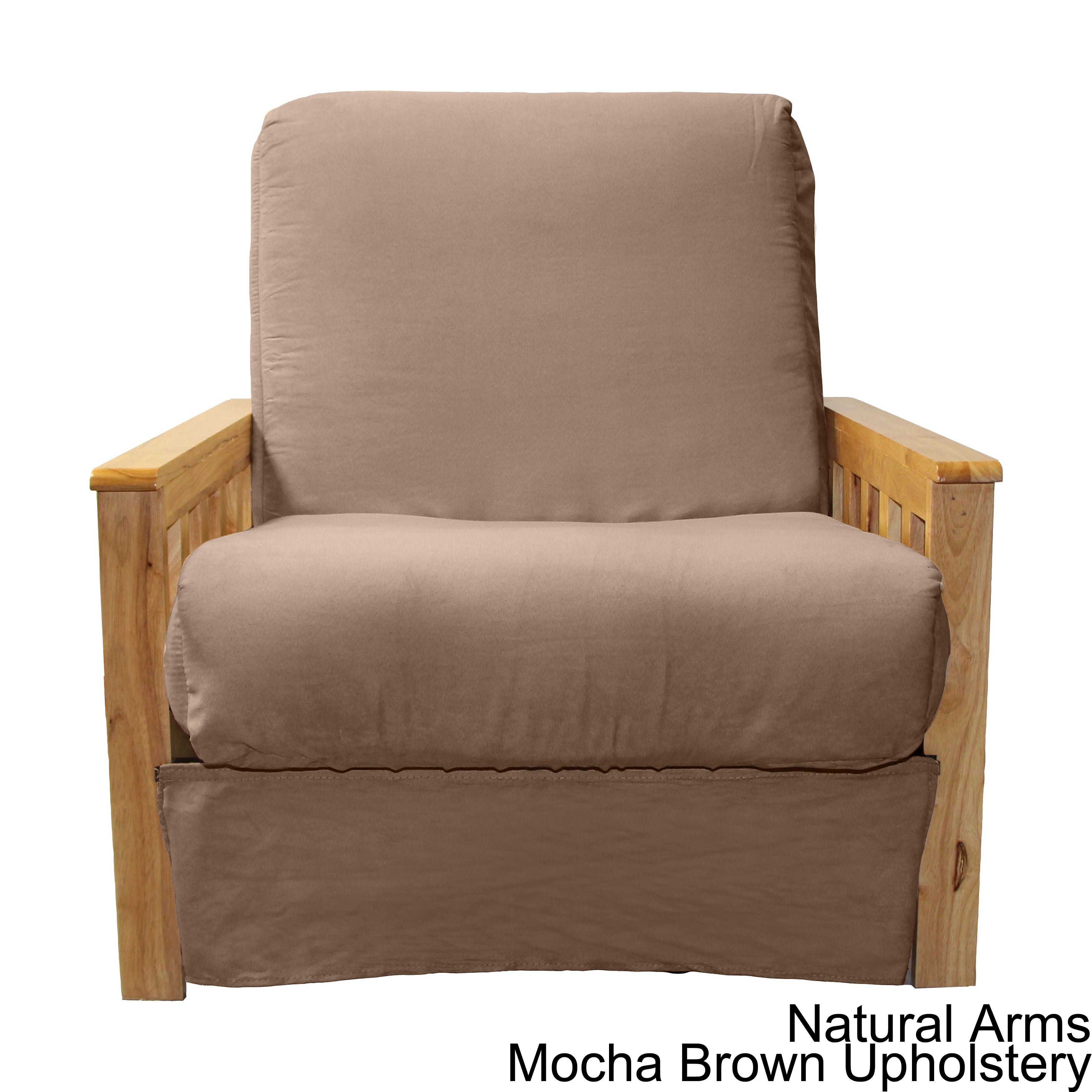 Provo Perfect Sit and Sleep Mission style Pillow Top Futon Chair