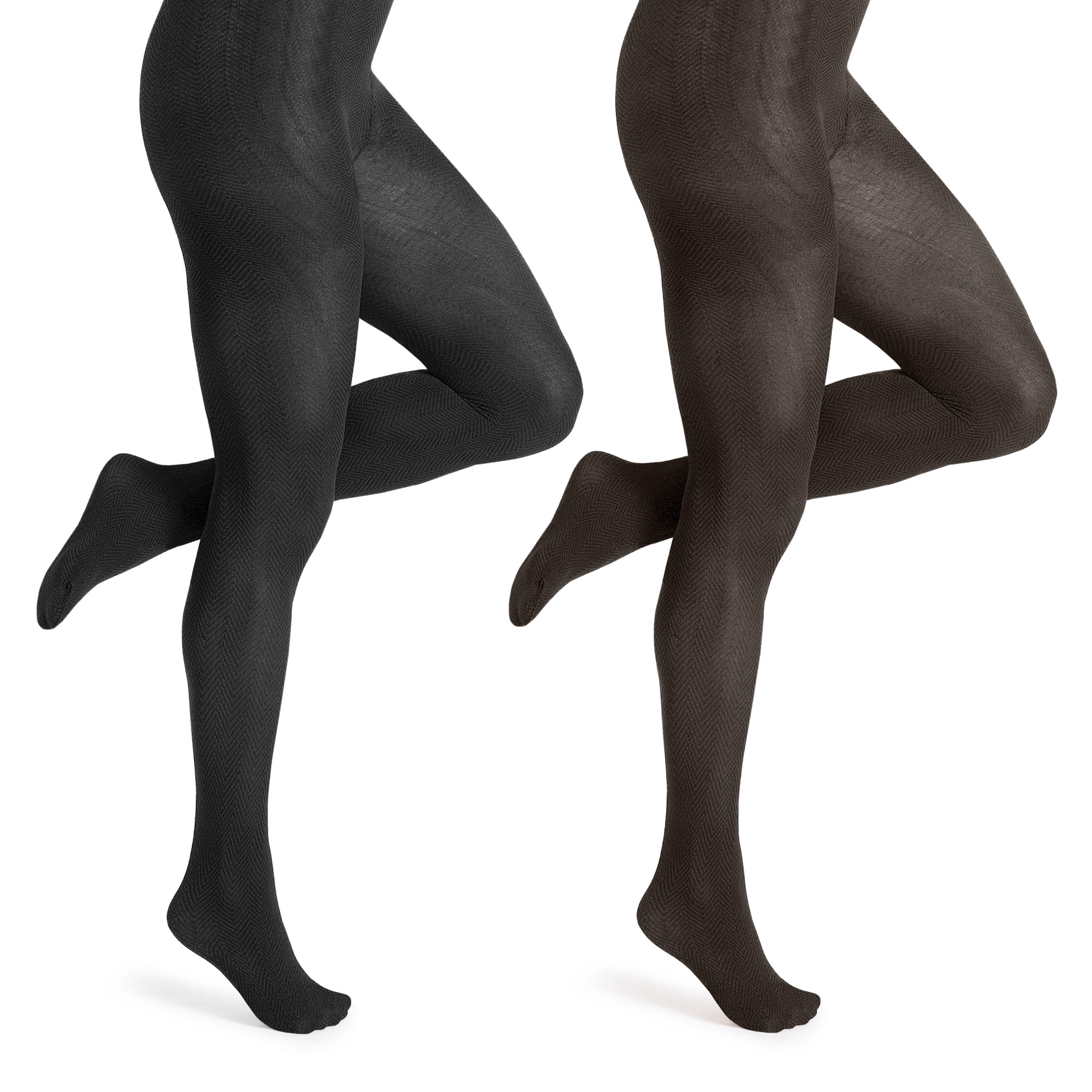 b5c75a33c410d6 Shop Muk Luks Women's Microfiber Herringbone Tights (2 pairs) - Free  Shipping On Orders Over $45 - Overstock - 8431378