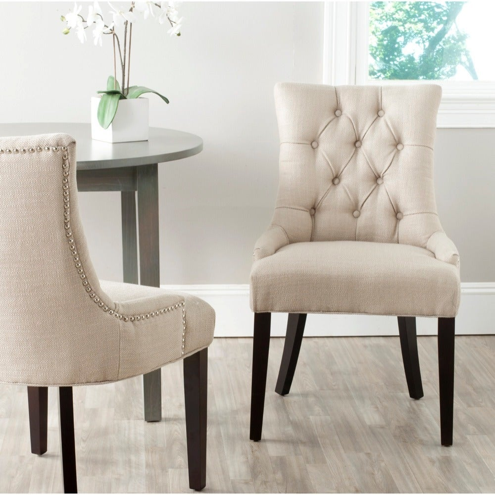 Shop Safavieh En Vogue Dining Abby Antique Gold Dining Chairs (Set ...