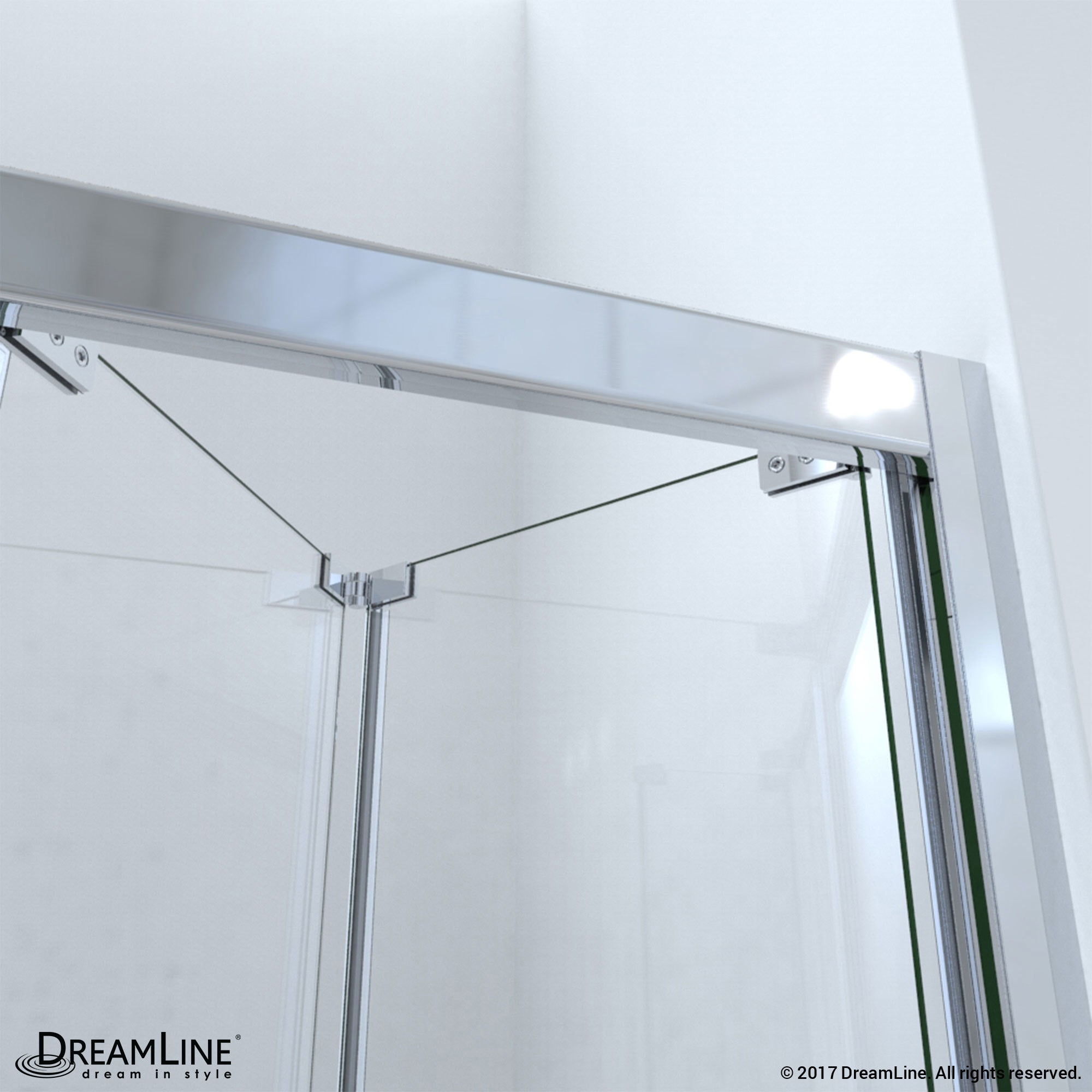 Shop Dreamline Butterfly Frameless Bi Fold Shower Door 32 In By 32