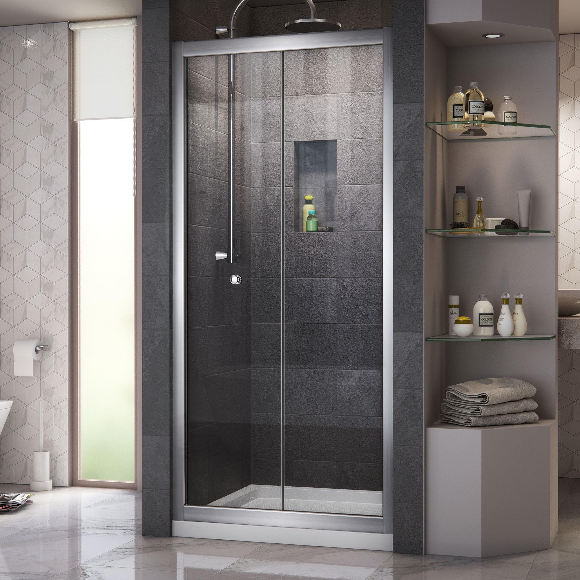 Shop DreamLine Butterfly Frameless Bi-Fold Shower Door, 36 in. by 36 ...
