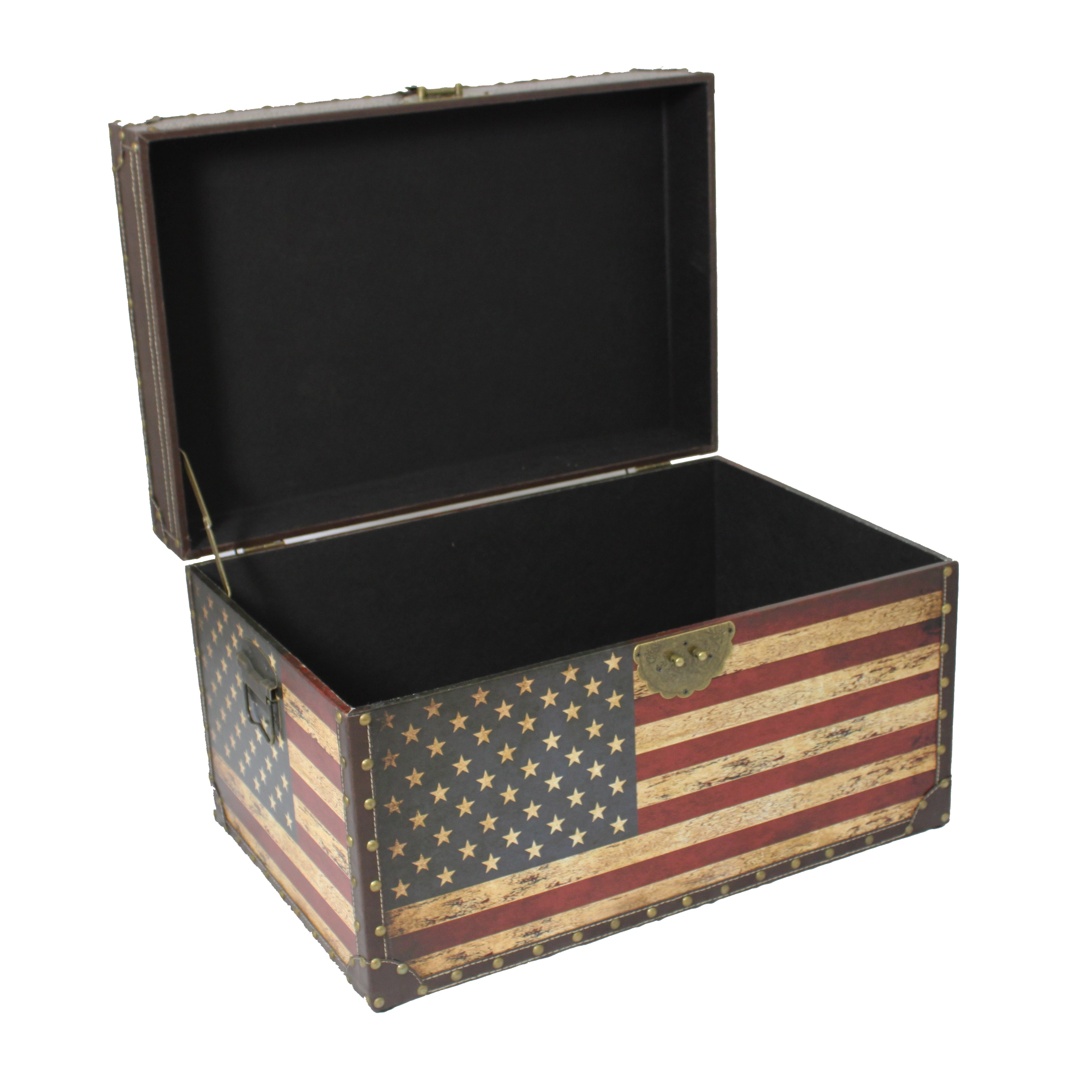 Antique American Flag Decorative Trunk Cases and Storage Accent Decor -  Free Shipping Today - Overstock.com - 15736685