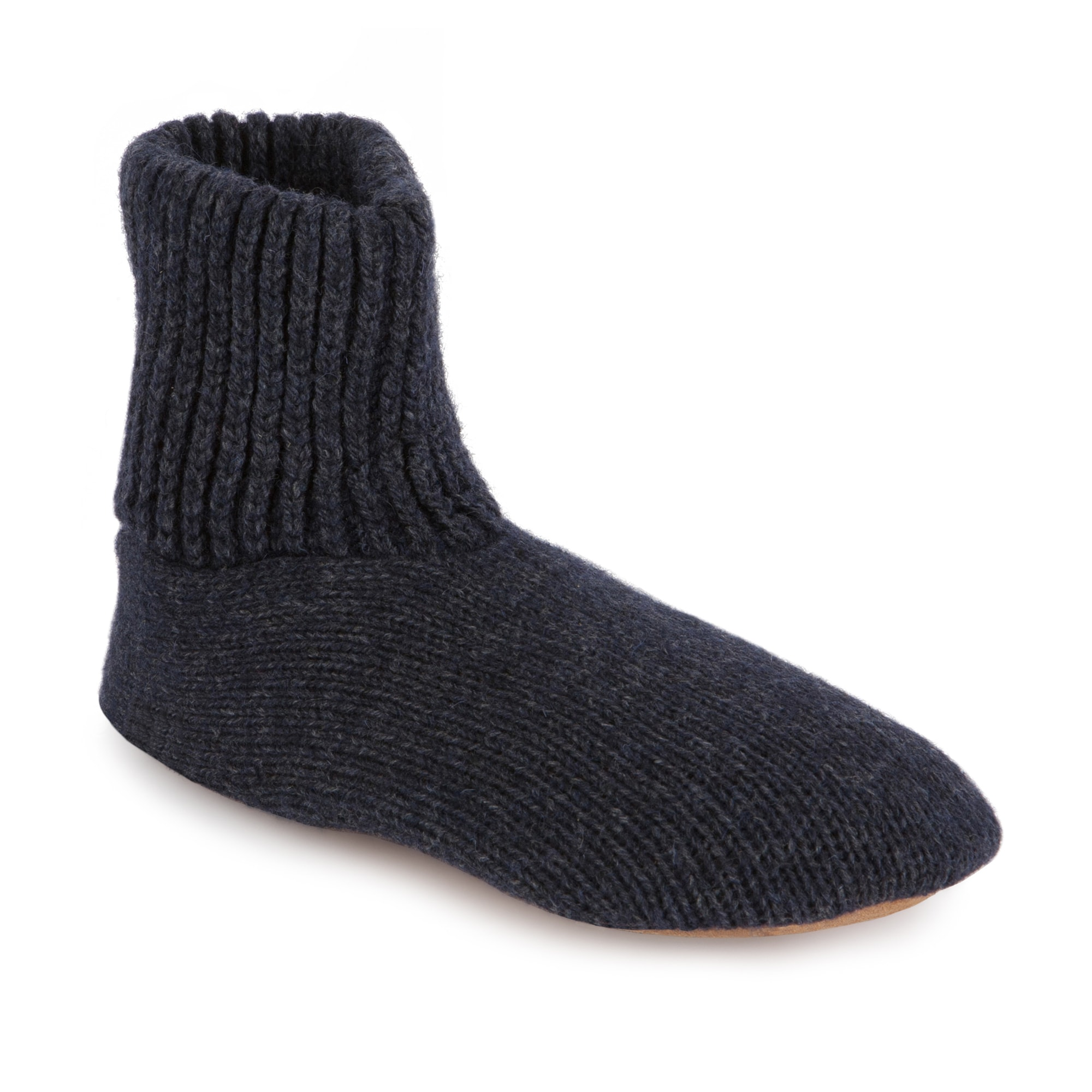 Shop MUK LUKS Morty - Men\'s Ragg Wool Slipper Sock with Leather Sole ...