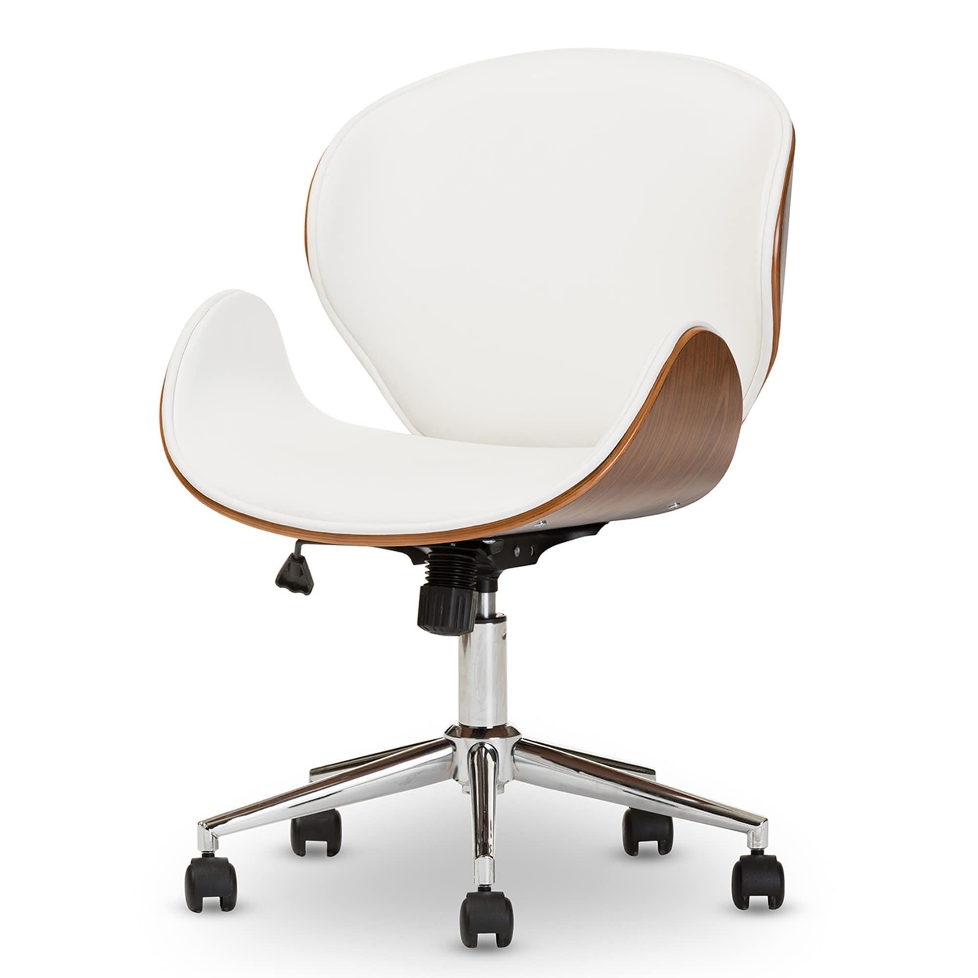 modern desk chair. Plain Modern Shop Baxton Studio Bruce Walnut Modern Office Chair  Free Shipping Today  Overstockcom 22727197 On Desk