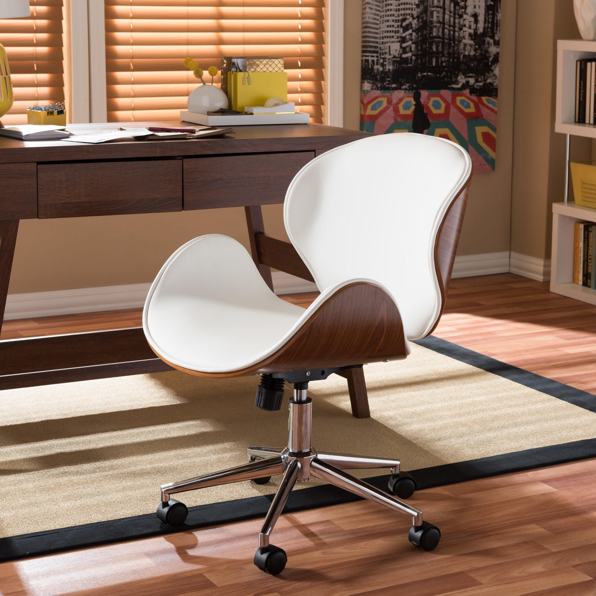 Carson Carrington Nybro Walnut Wood Modern Office Chair Free Shipping Today 22727197